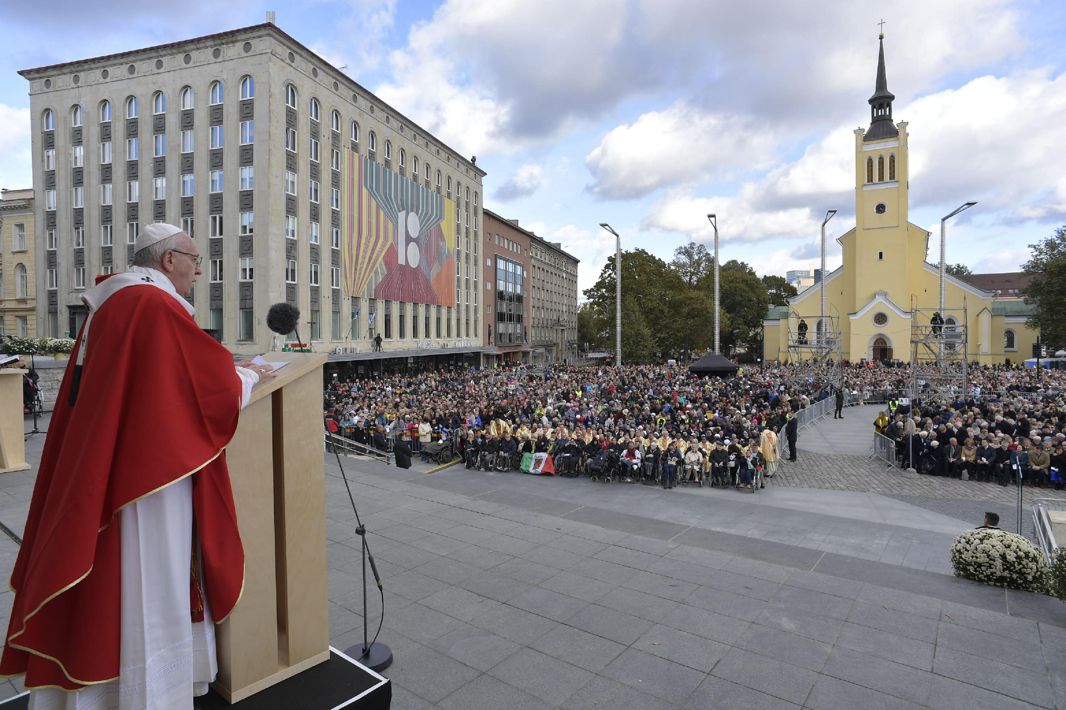 Messe Place de la Liberté, Tallinn, Estonie © Vatican Media