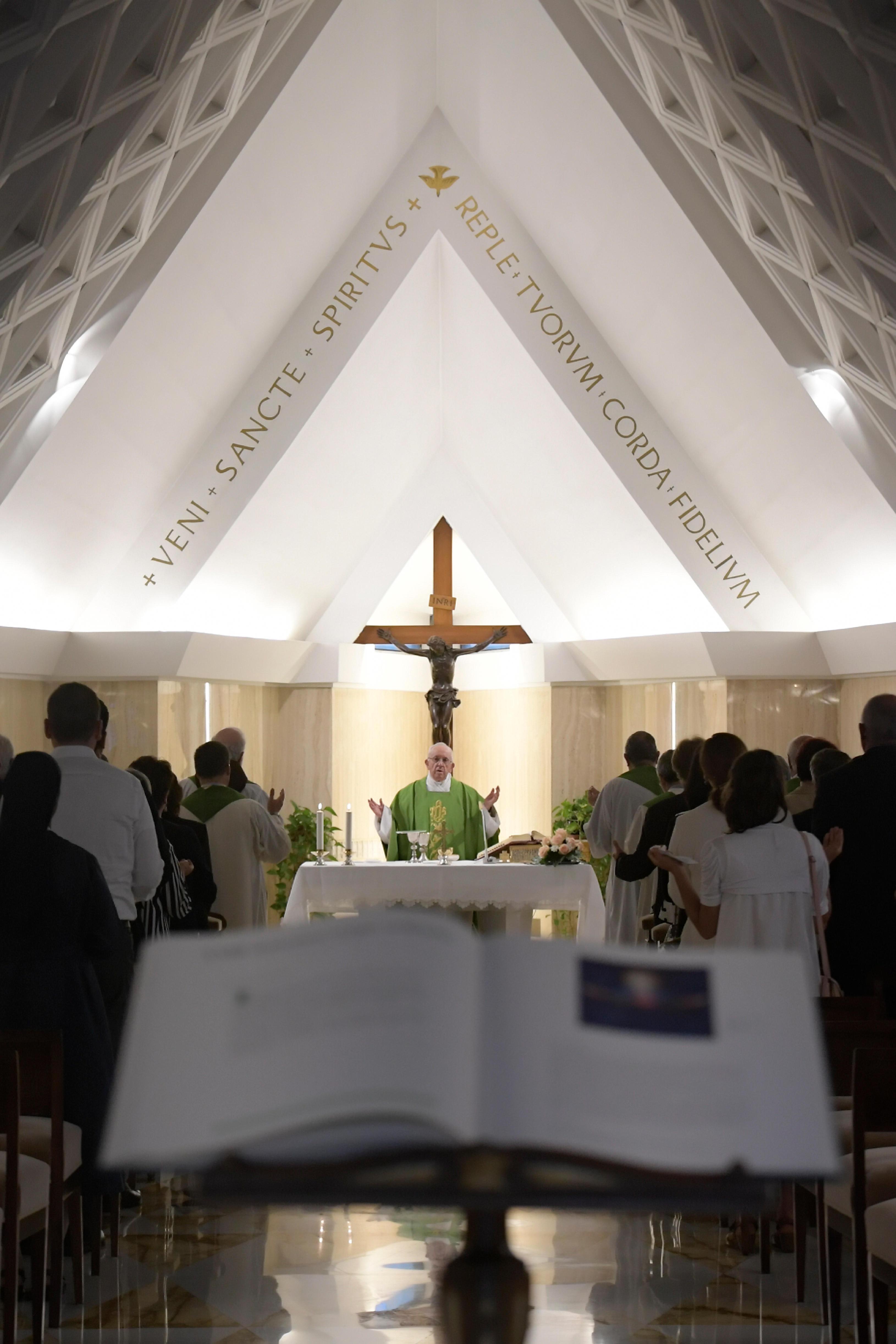 Messe à Sainte-Marthe le 11 septembre 2018 © Vatican Media