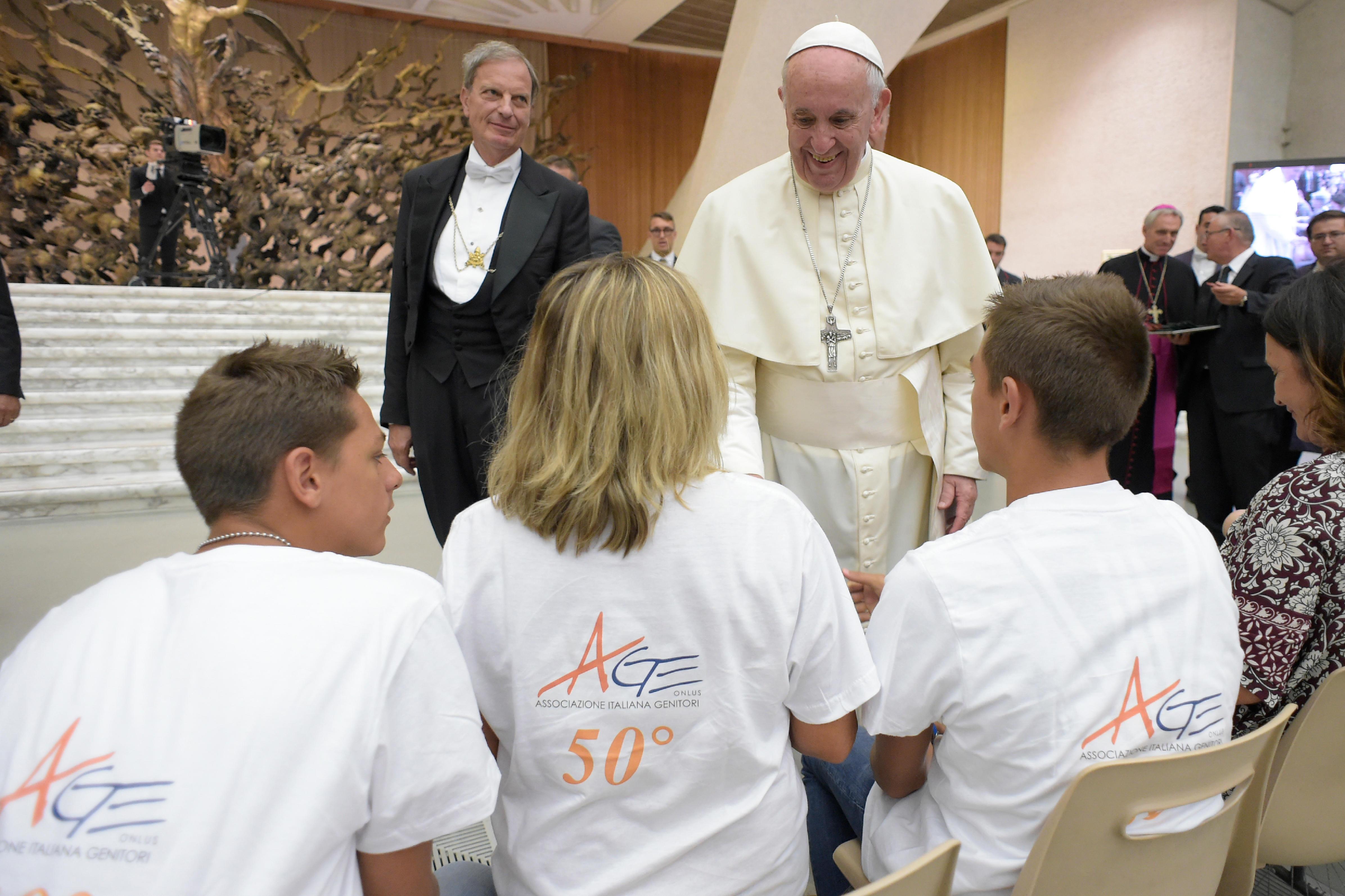 Association italienne des parents © Vatican Media