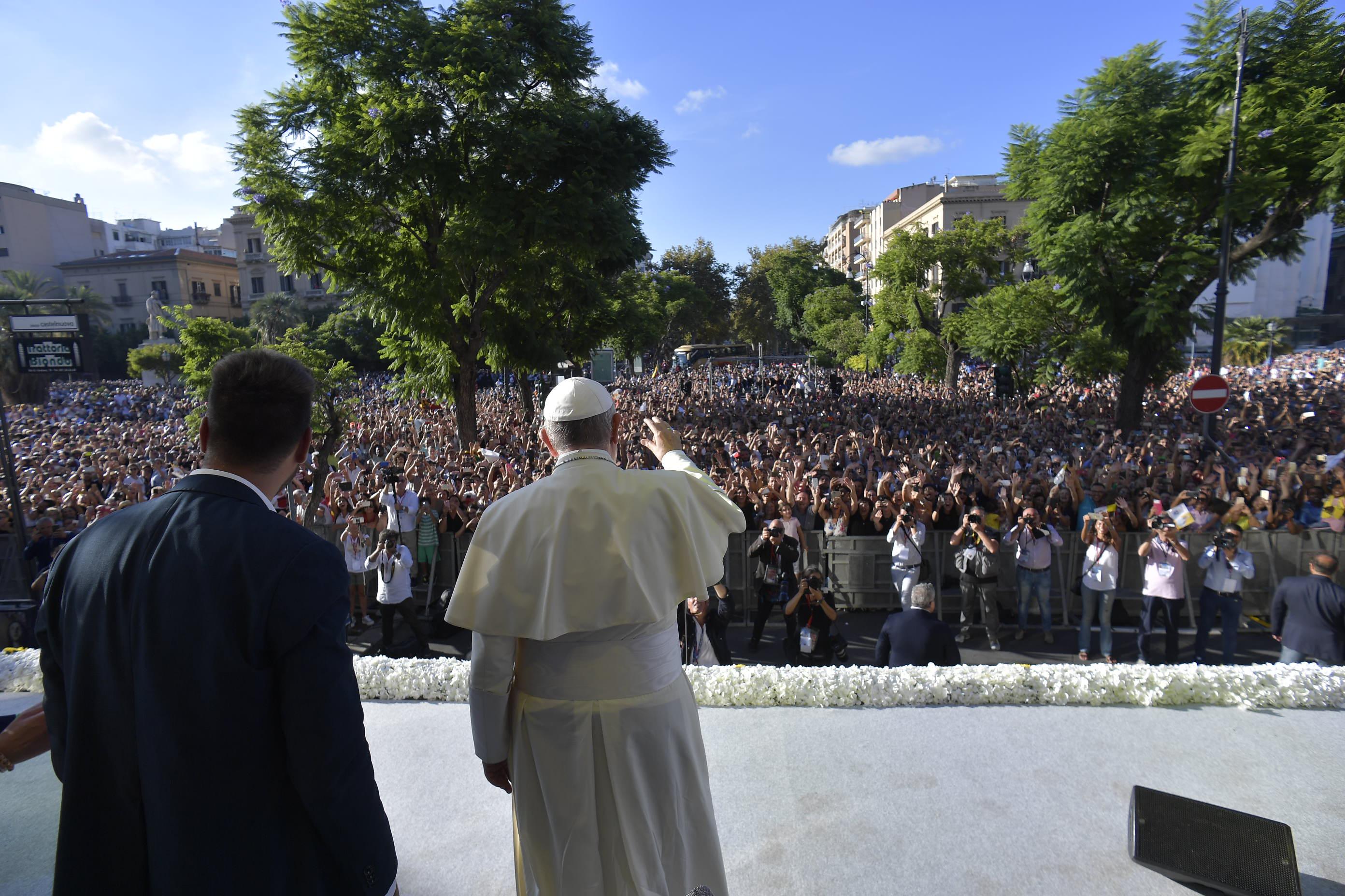 Palerme, rencontre avec les jeunes, 15 sept. 2018 © Vatican Media