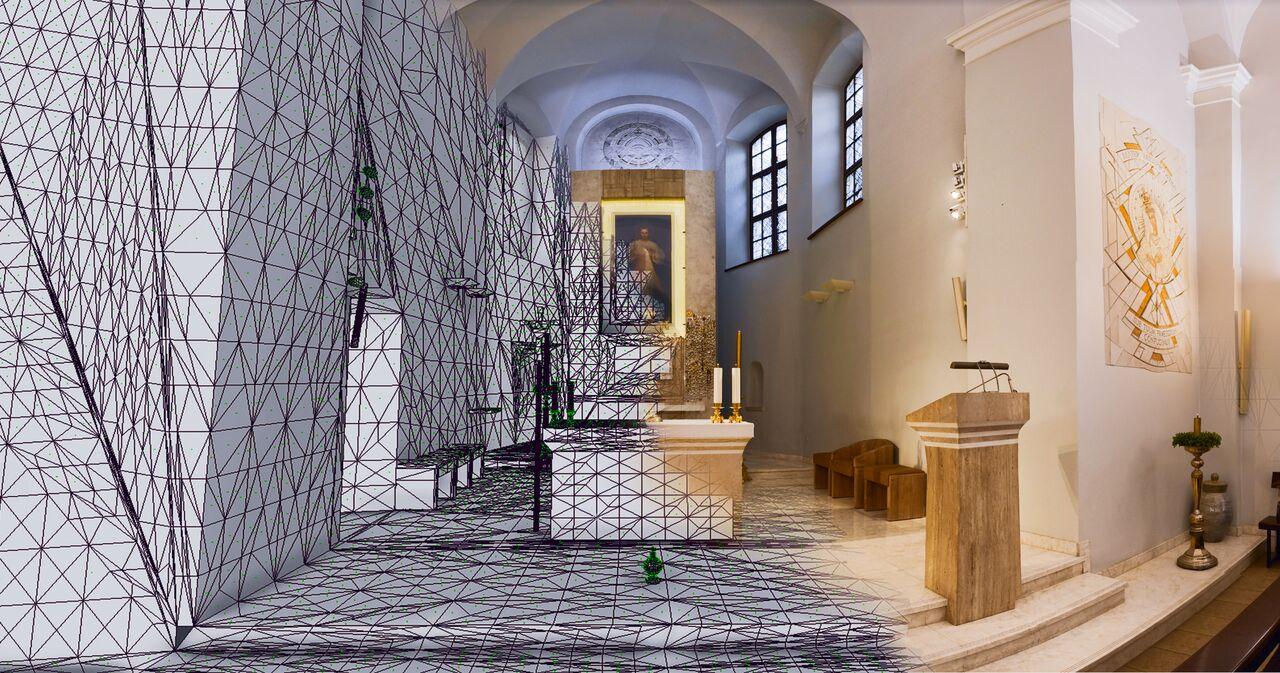 © VGTU LinkMenu fabrikas. Making of de l'église de la Sainte-Trinité de Vilinus en 3D