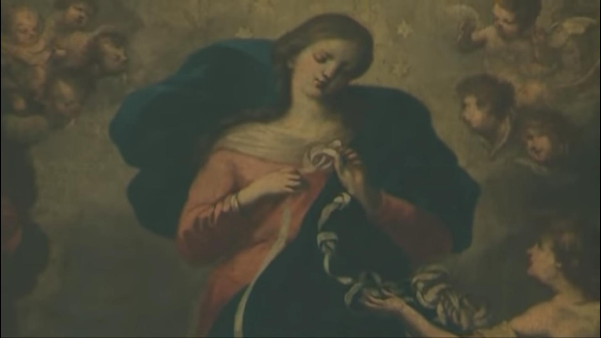 "Marie ""Knotenlöserin"", église Sankt-Peter (Augsbourg, Allemagne) @YouTube"