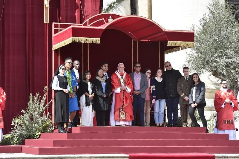 Jeunes à l'ouverture du synode 2018 © Vatican Media