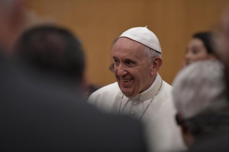 Rencontre avec jeunes et personnes âgées, 23 oct. 2018 © Vatican Media