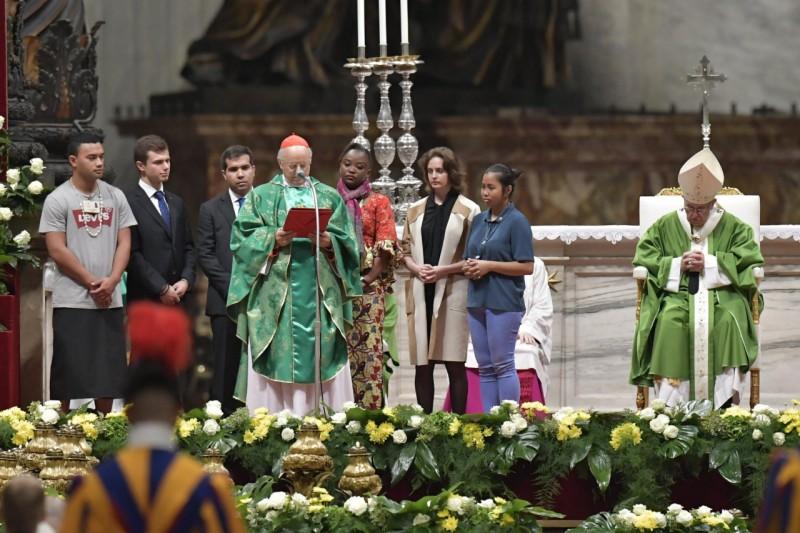 Messe de clôture du Synode des évêques pour les jeunes © Vatican Media