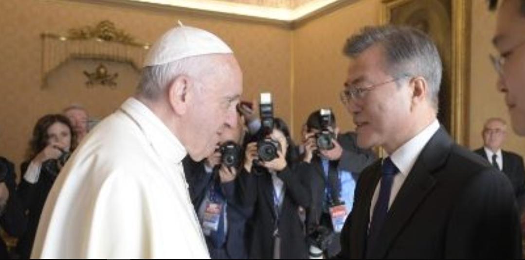 Moon Jae-In, président de Corée du Sud, 2018 © Vatican Media