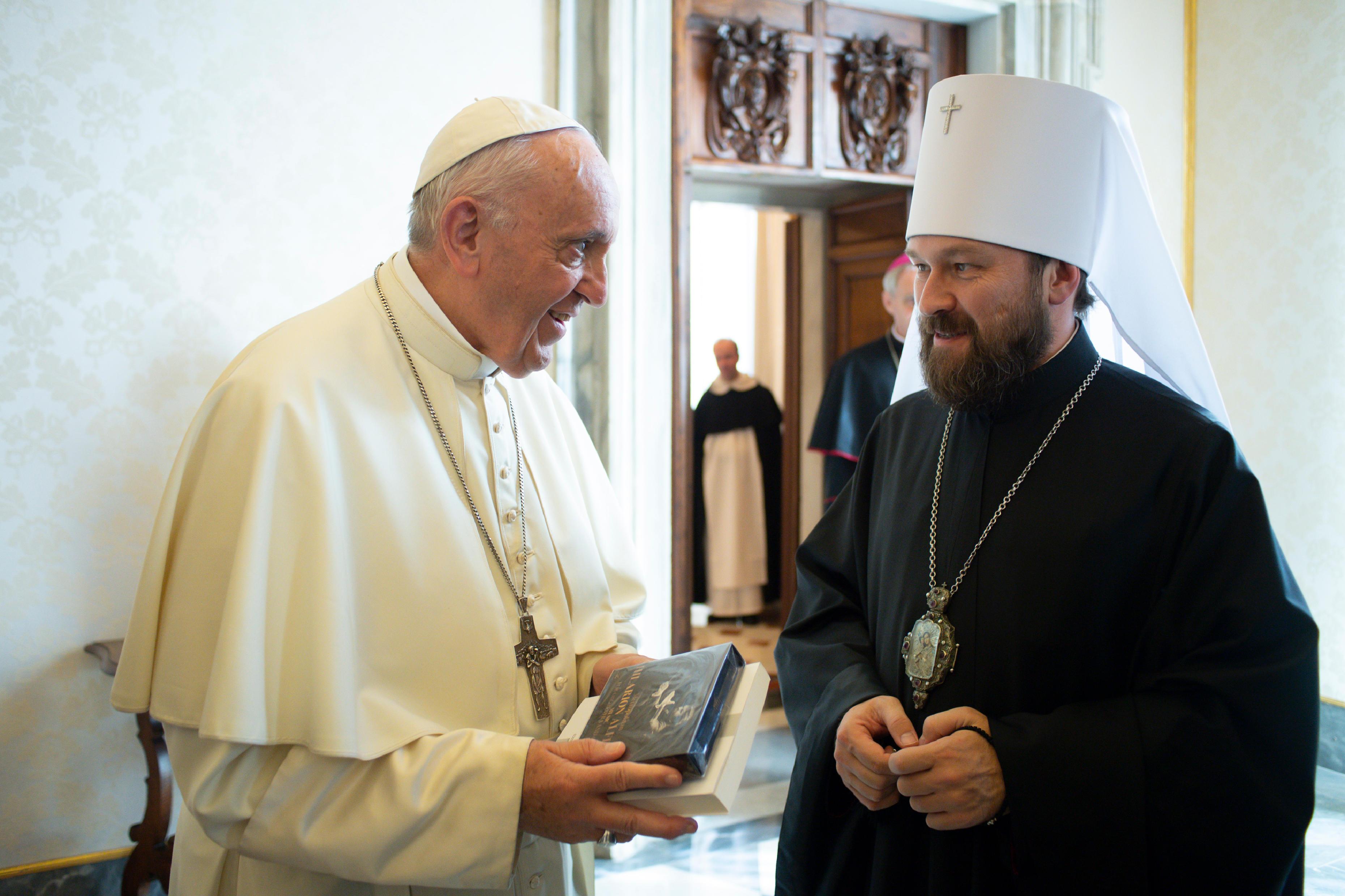 Visite du Métropolite Hilarion © Vatican Media