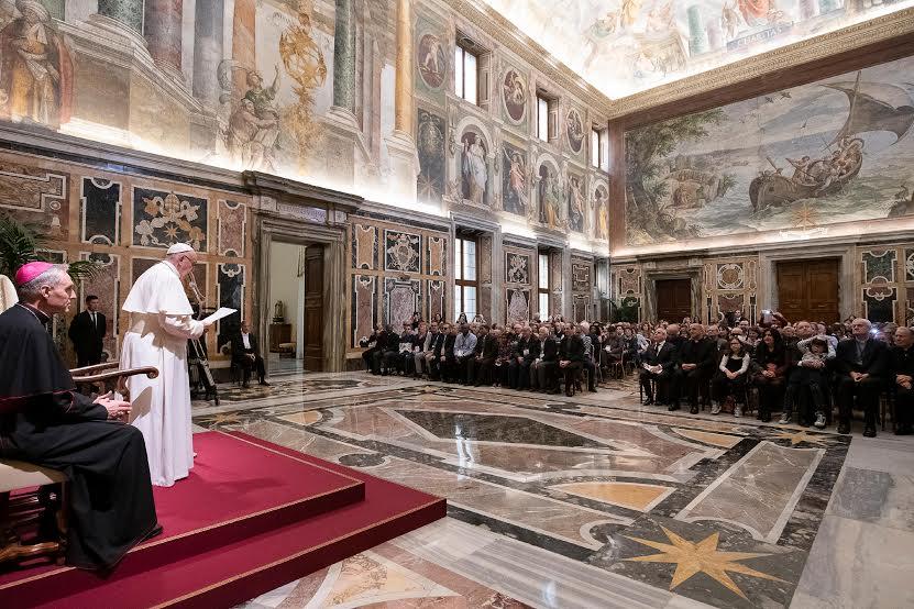 Mouvement italien des aveugles © Vatican Media