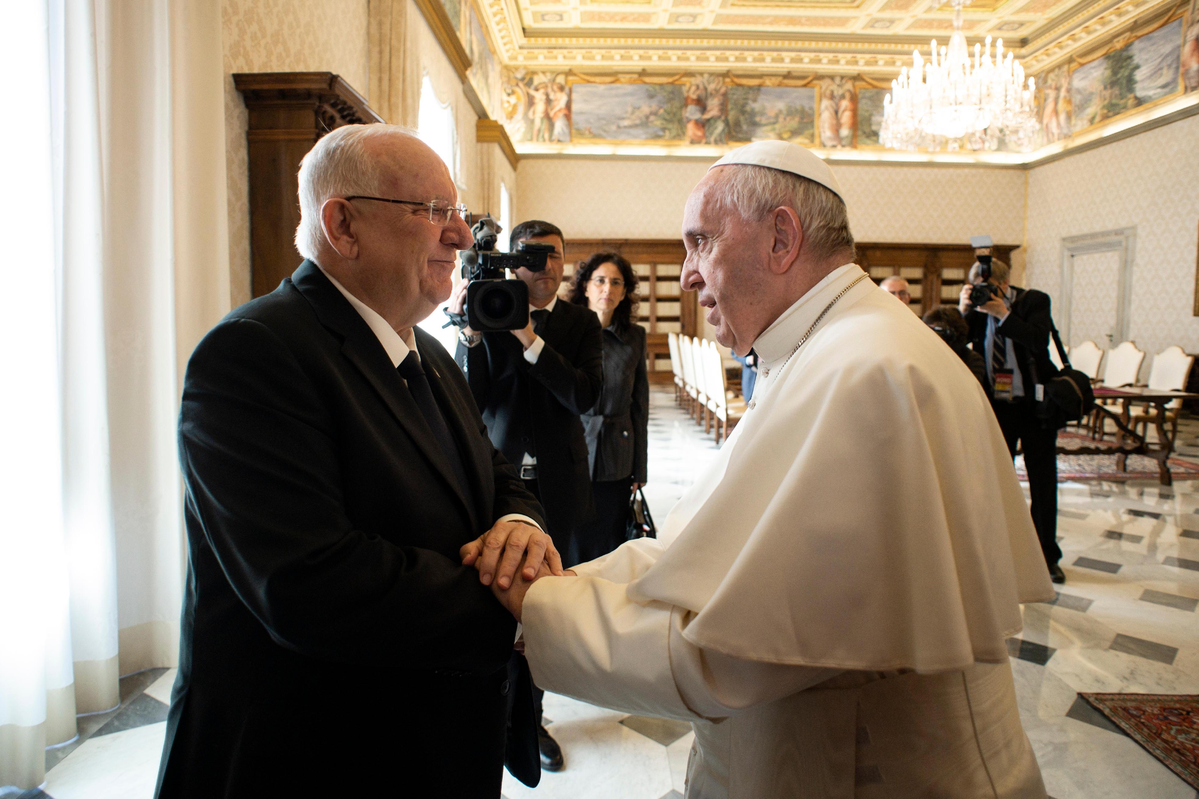 Visite du président Rivlin © Vatican Media