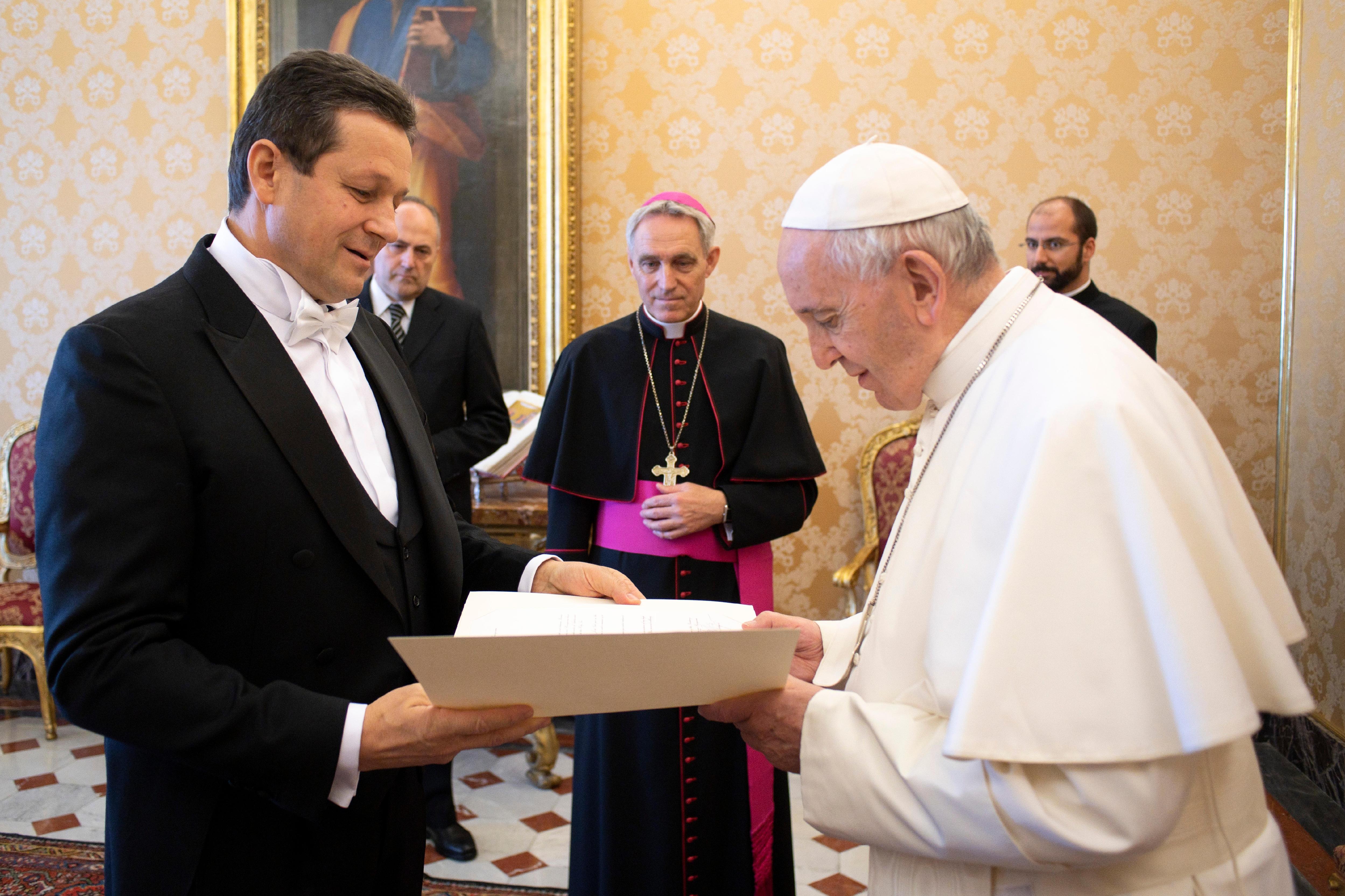 Josip Gelo ambassadeur de Bosnie-Herzégovine © Vatican Media