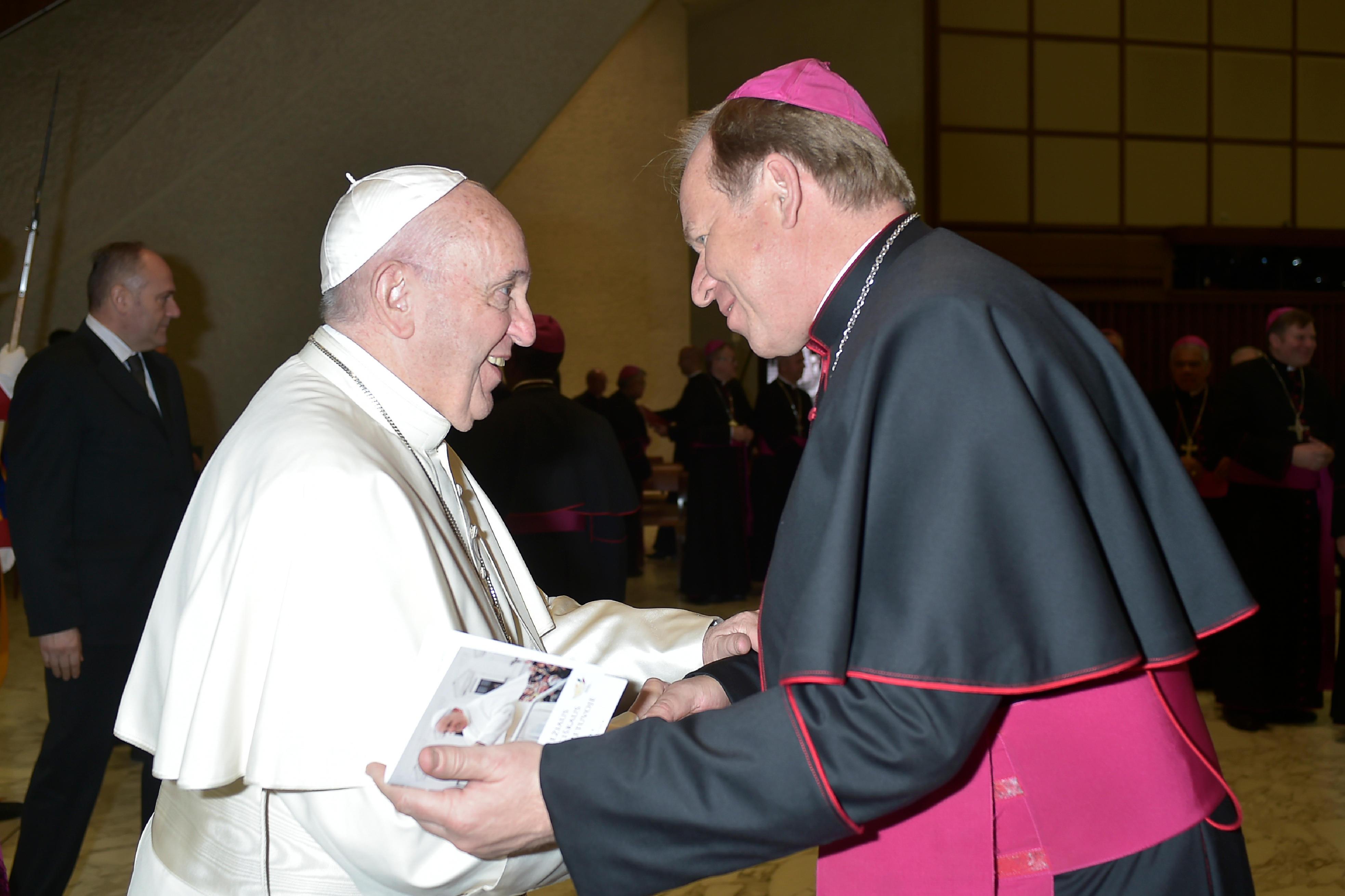 Mgr Gintaras Grusas, 28 nov 2018 © Vatican Media