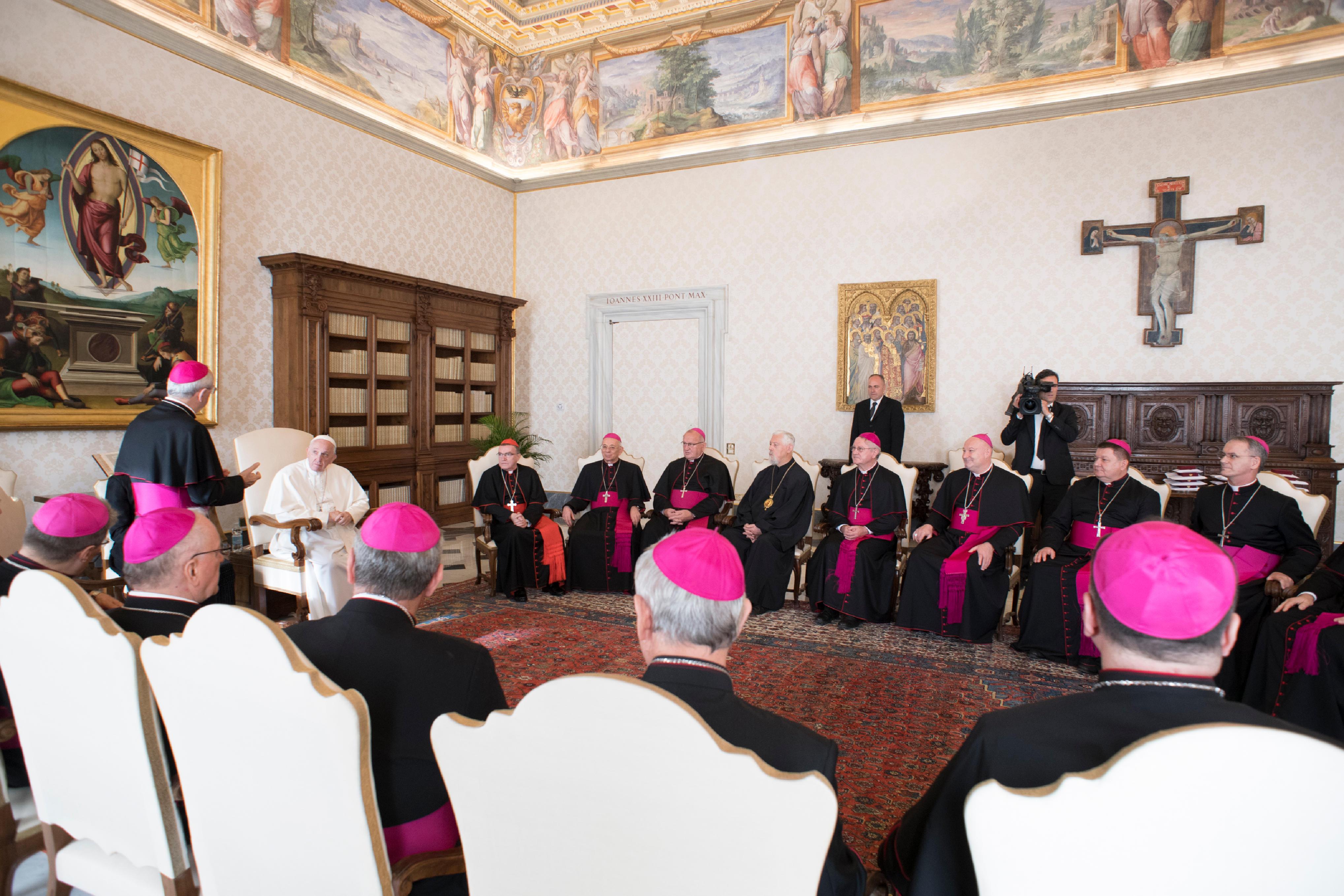 Evêques de Croatie en visite ad limina © Vatican Media
