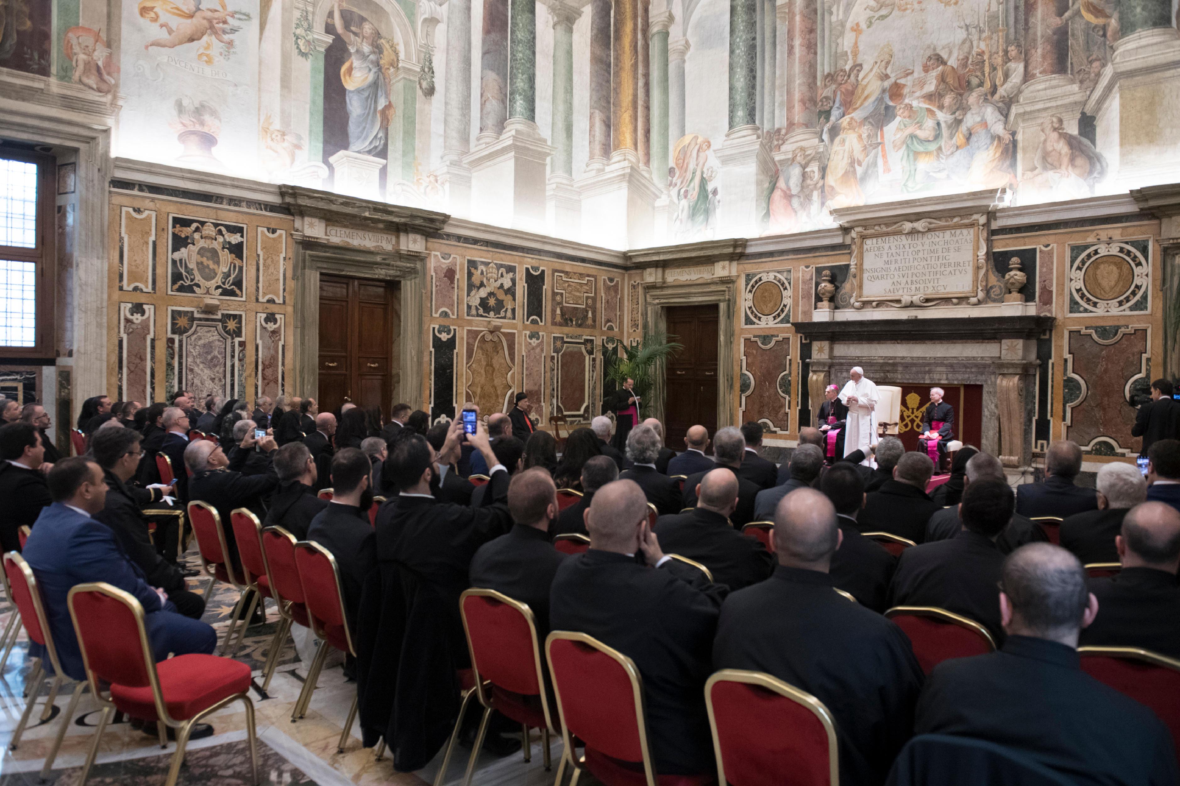 Fondation Maronites et autorités du Liban © Vatican Media