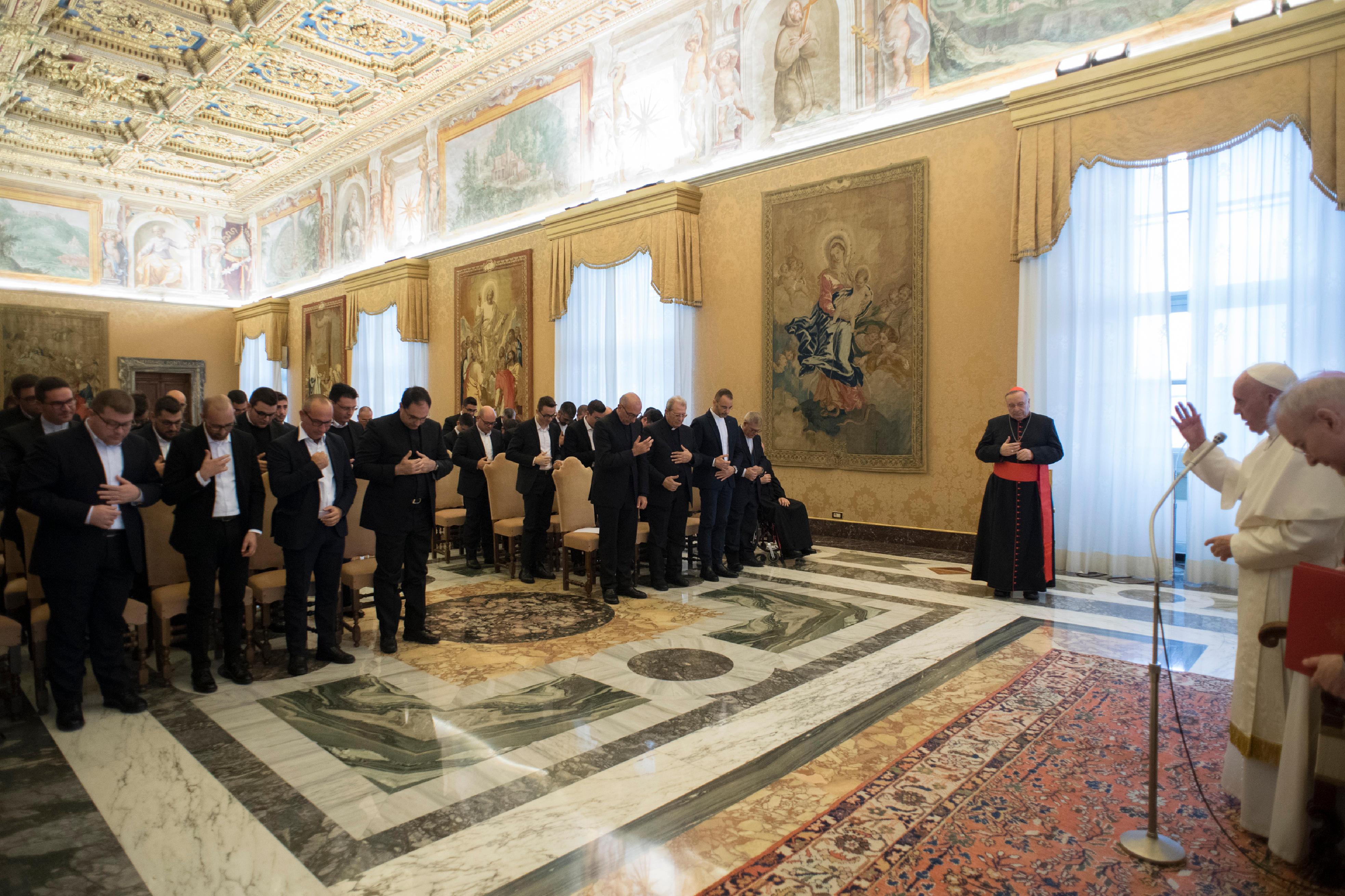 Séminaristes du diocèse d'Agrigente © Vatican Media