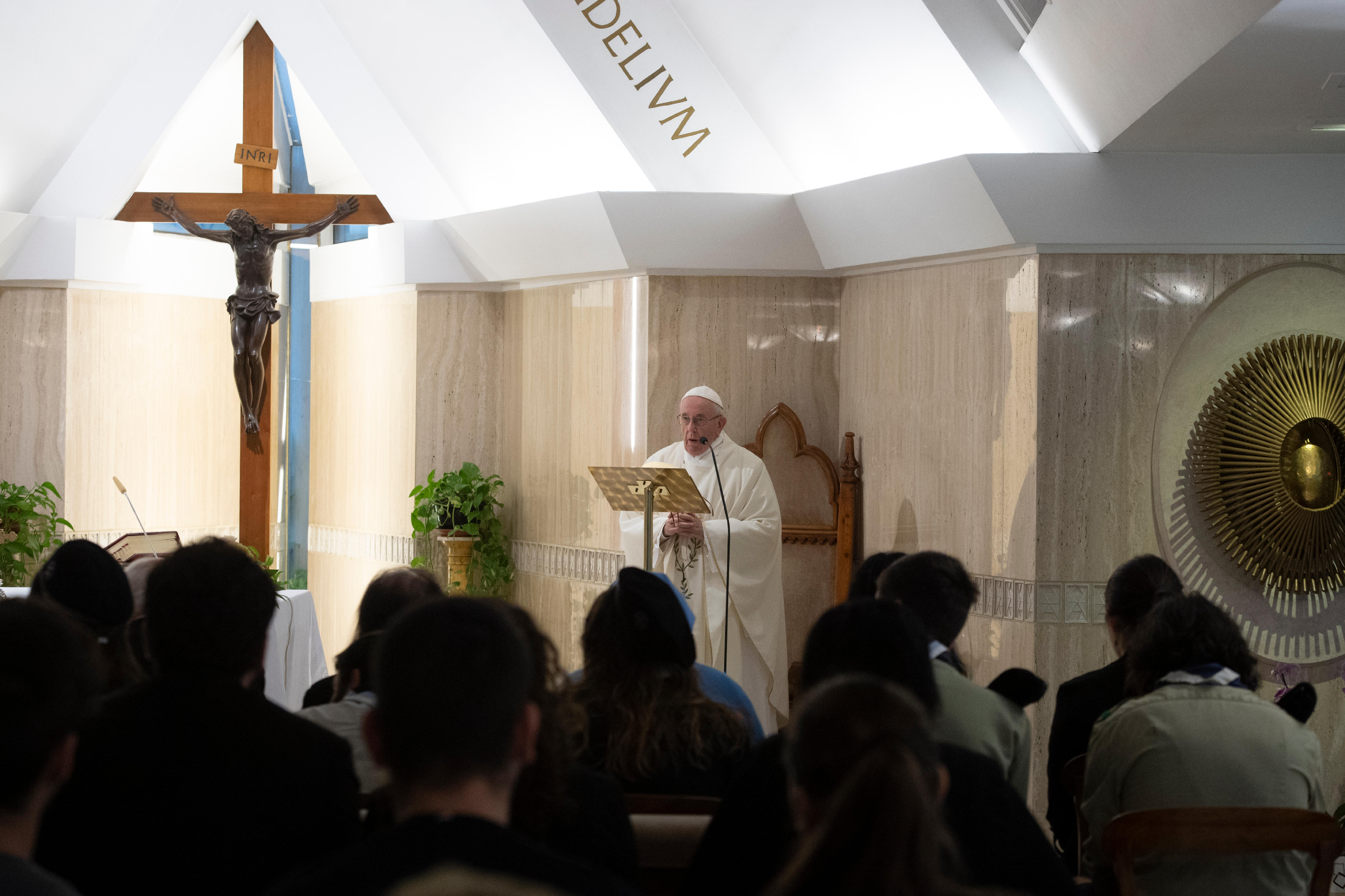 Messe à Ste-Marthe 5 nov 2018 © Vatican Media