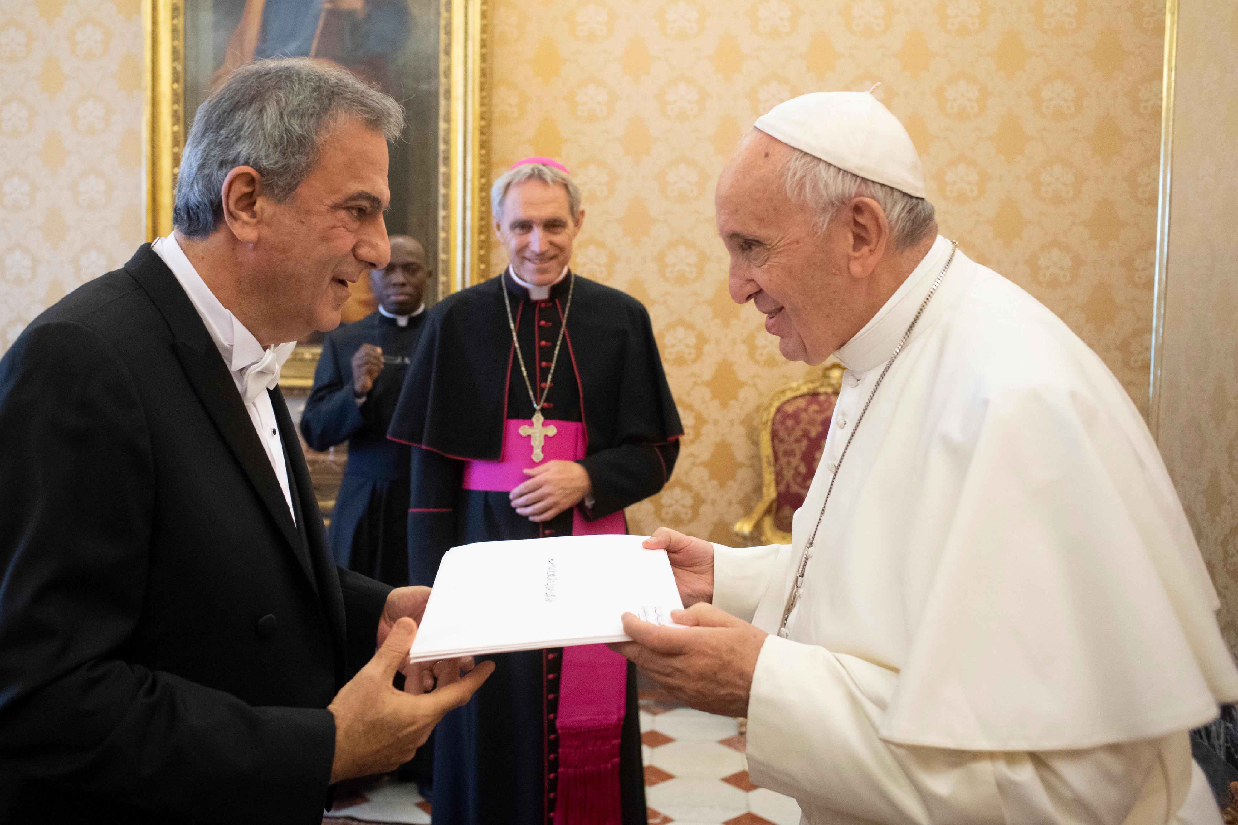 Farid Elias El-Khazen, ambassadeur du Liban © Vatican Media