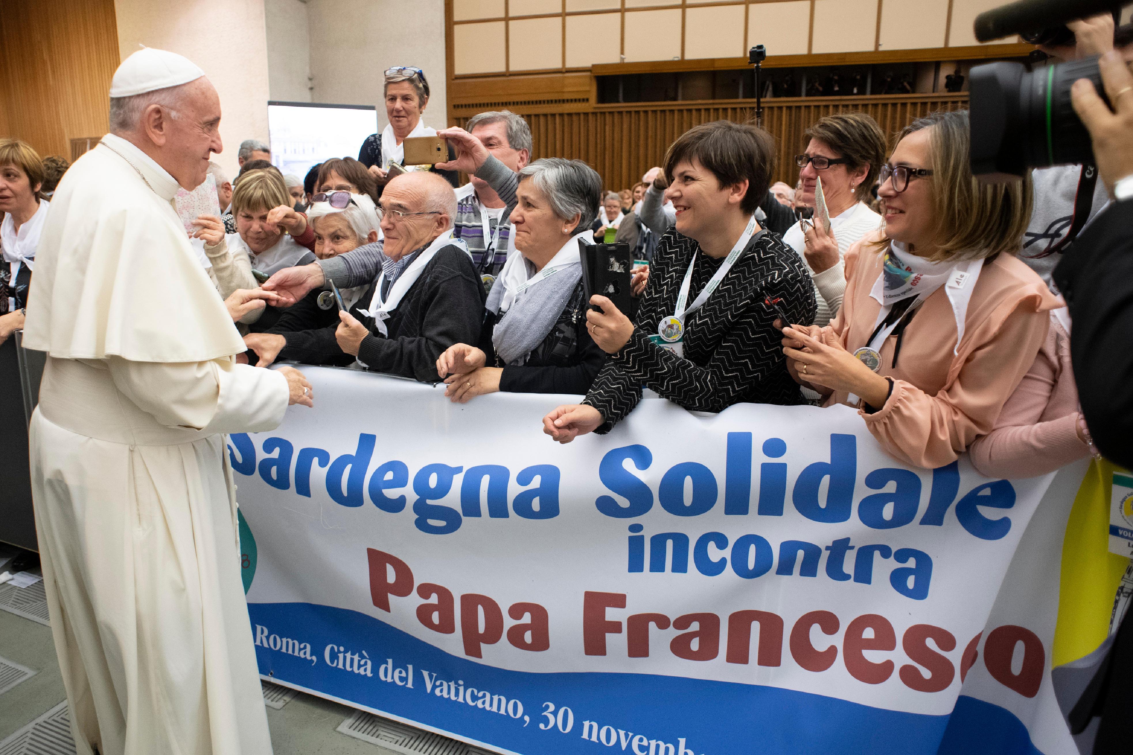 Centre de volontariat Sardaigne solidaire © Vatican Media