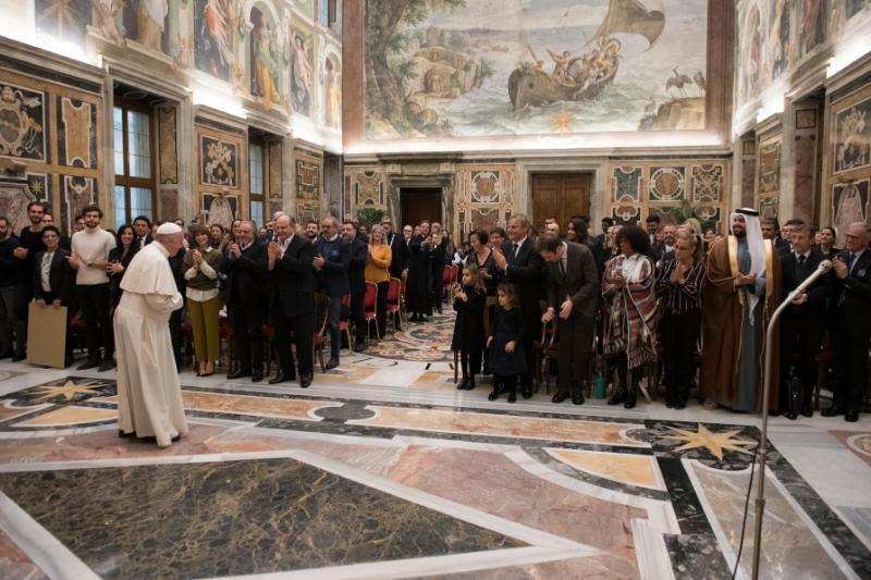 Les artistes du Concert de Noël 2018 © Vatican Media