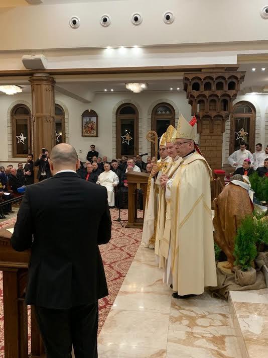 Le card. Parolin en Irak © Vatican Media