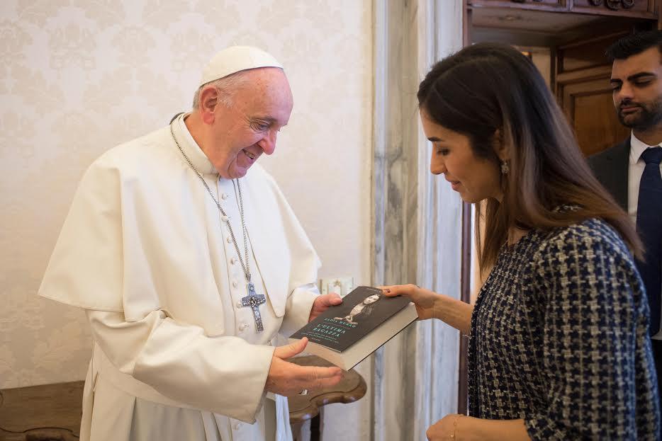 Nadia Murad, 20 déc. 2018 © Vatican Media