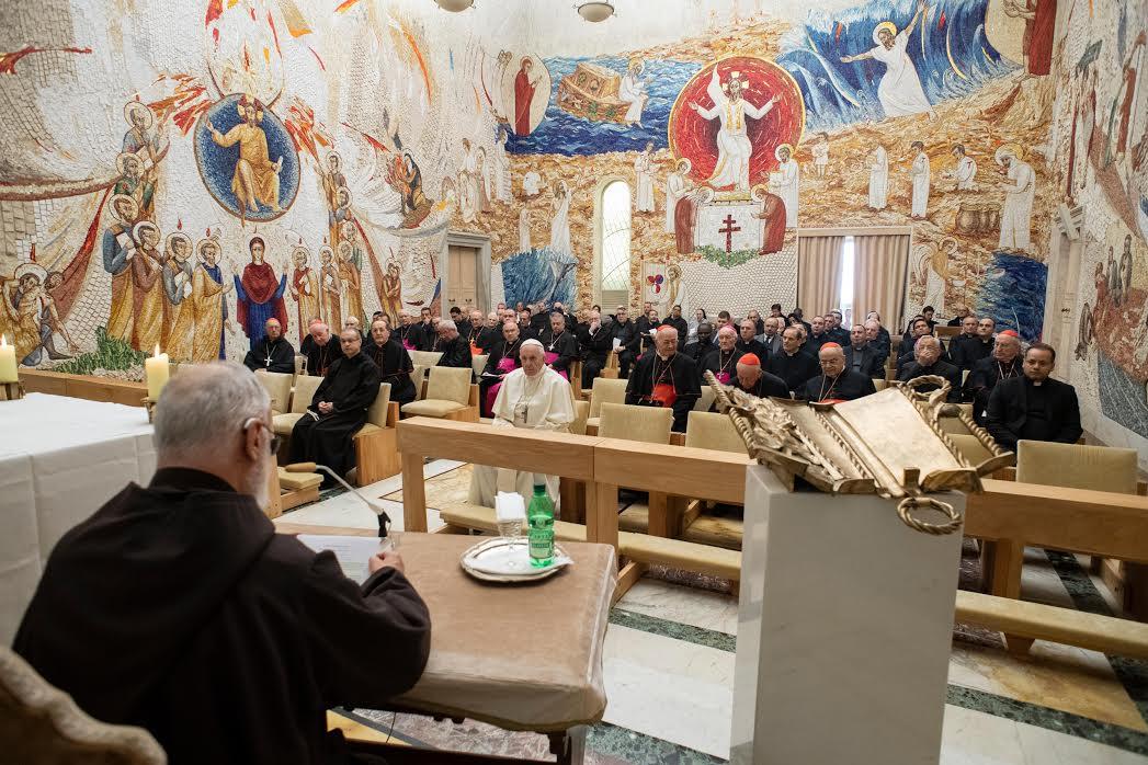 Prédication du p. Cantalamessa, 21 déc. 2018 © Vatican Media