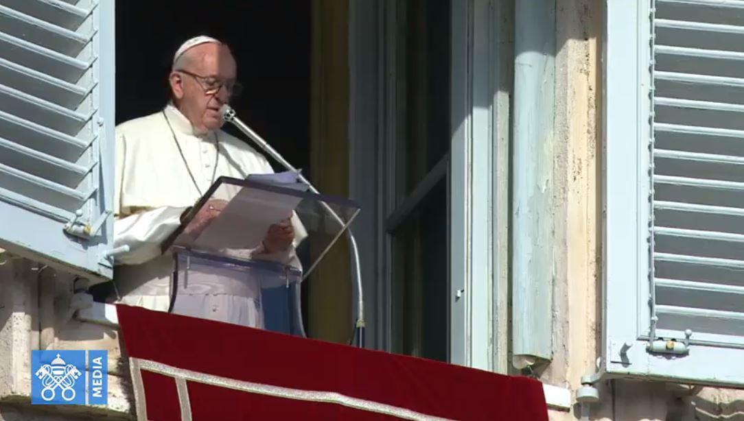 Angélus du 23 décmbre 2018, capture Vatican Media