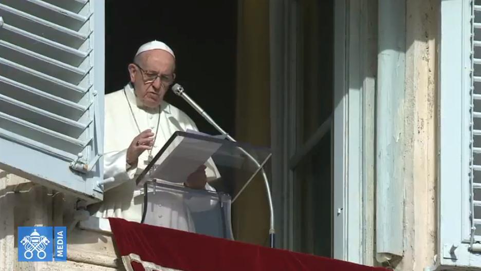 Angélus du dimanche 9 décembre 2018, capture Vatican Media