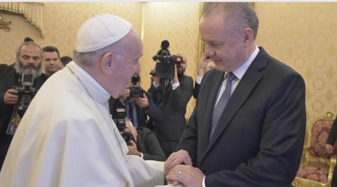 Audience au président Kiska (Slovaquie) © Vatican Media