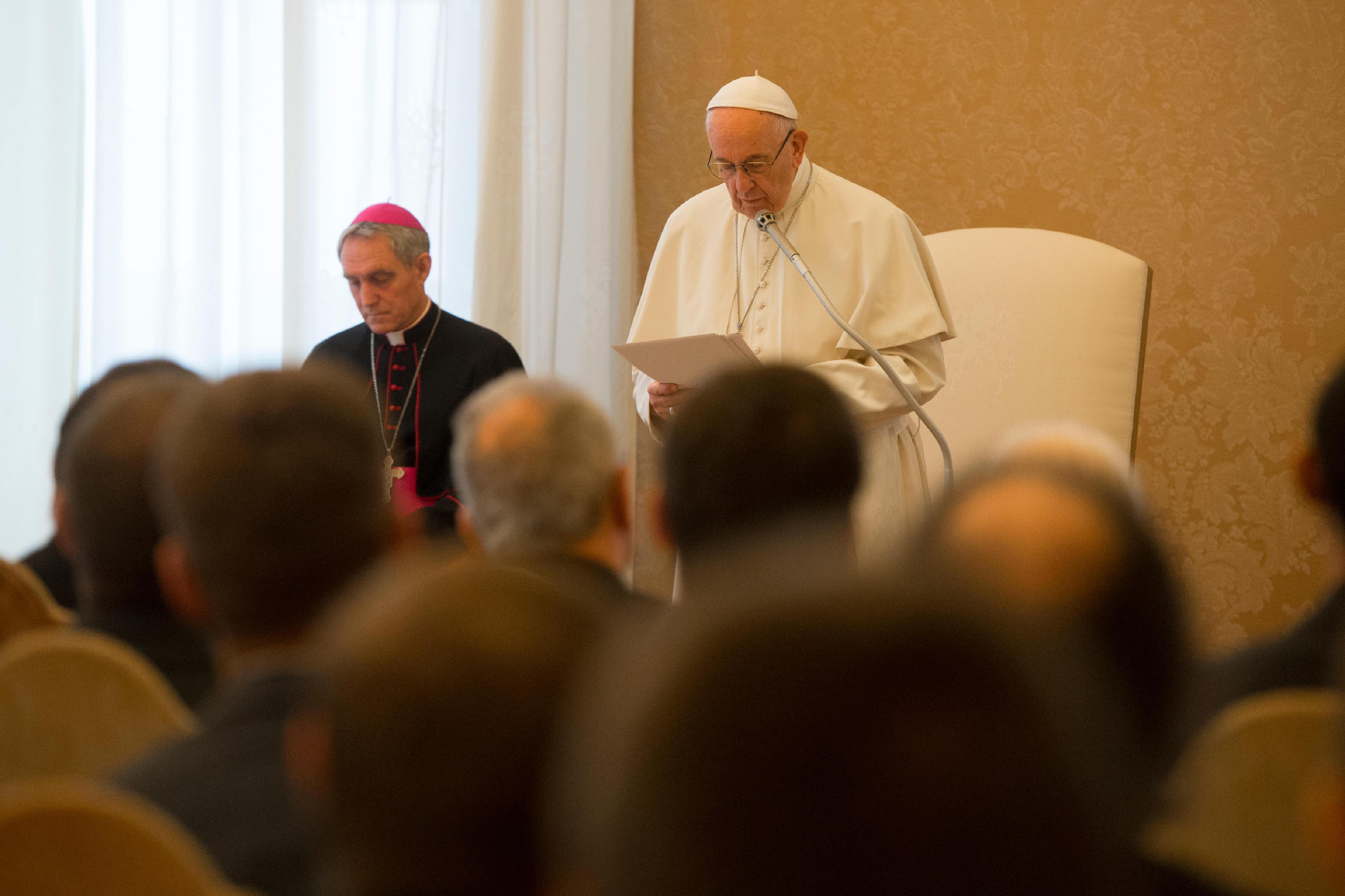 Audience au Collège international du Gesù de Rome © Vatican Media