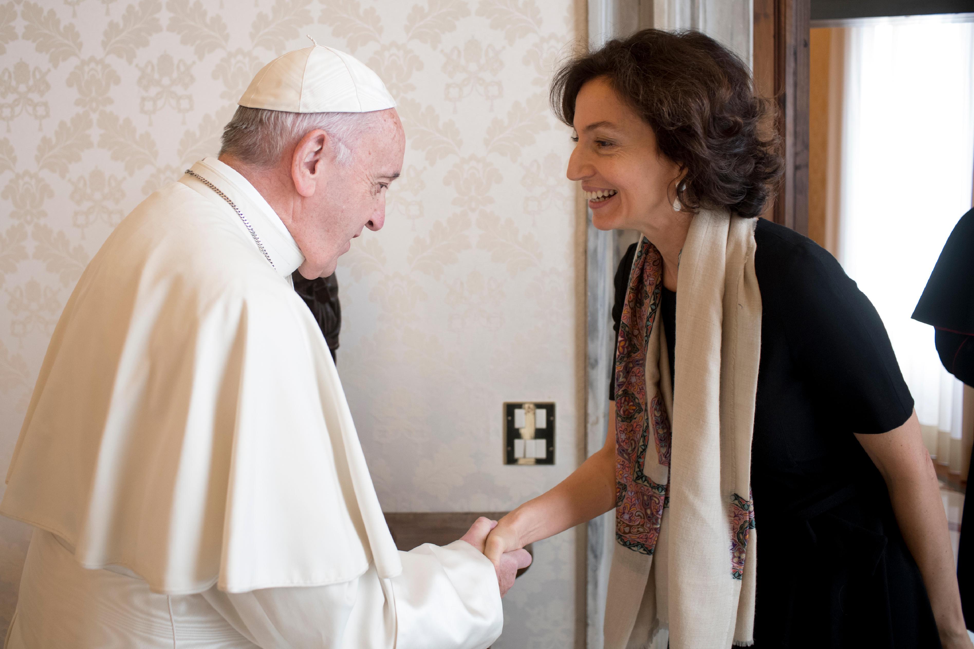 Audrey Azoulay, directrice générale de l'UNESCO © Vatican Media