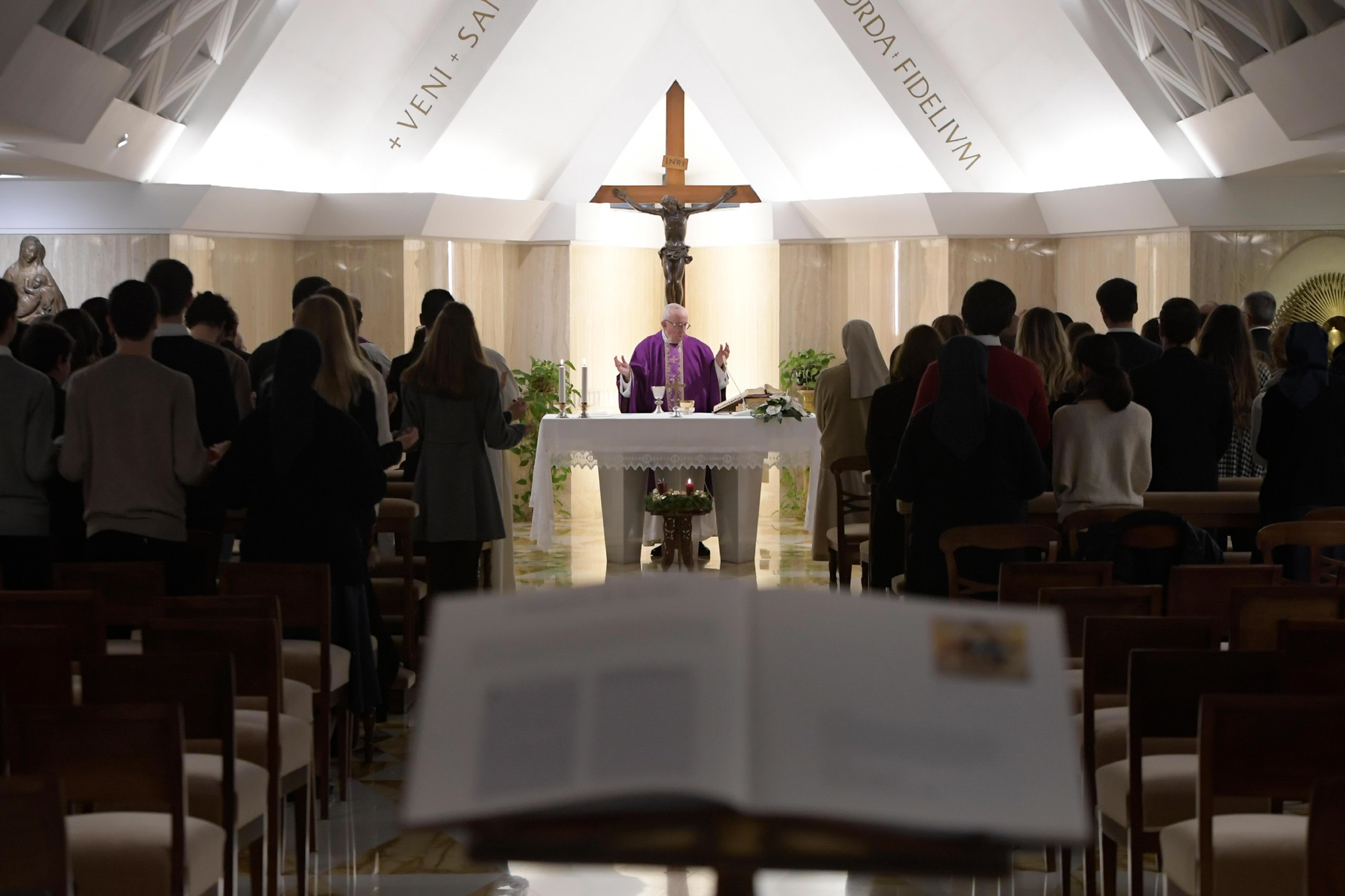 Messe à Sainte-Marthe, 4 décembre 2018 © Vatican Media