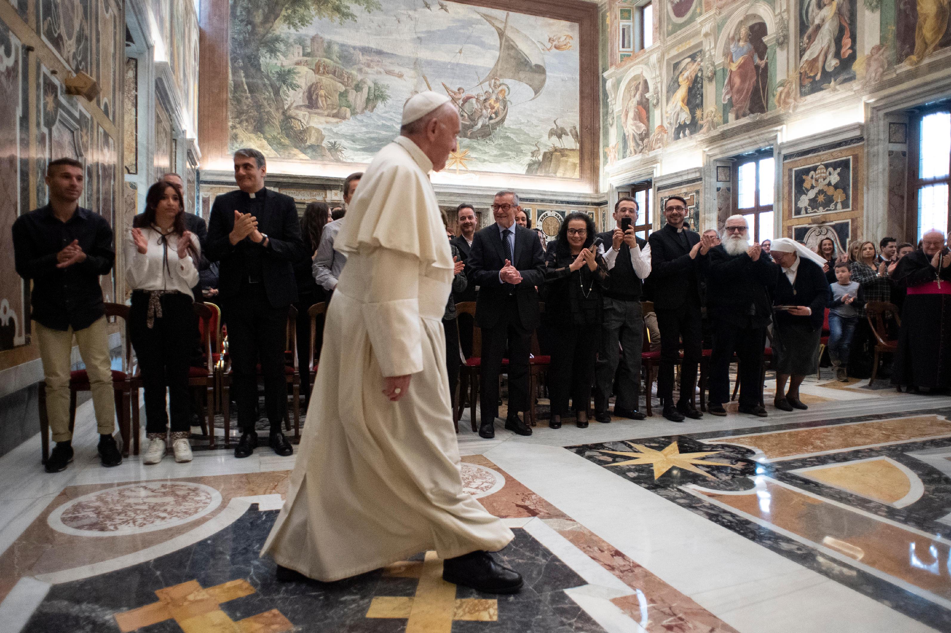 Rencontre avec Telepace © Vatican Media