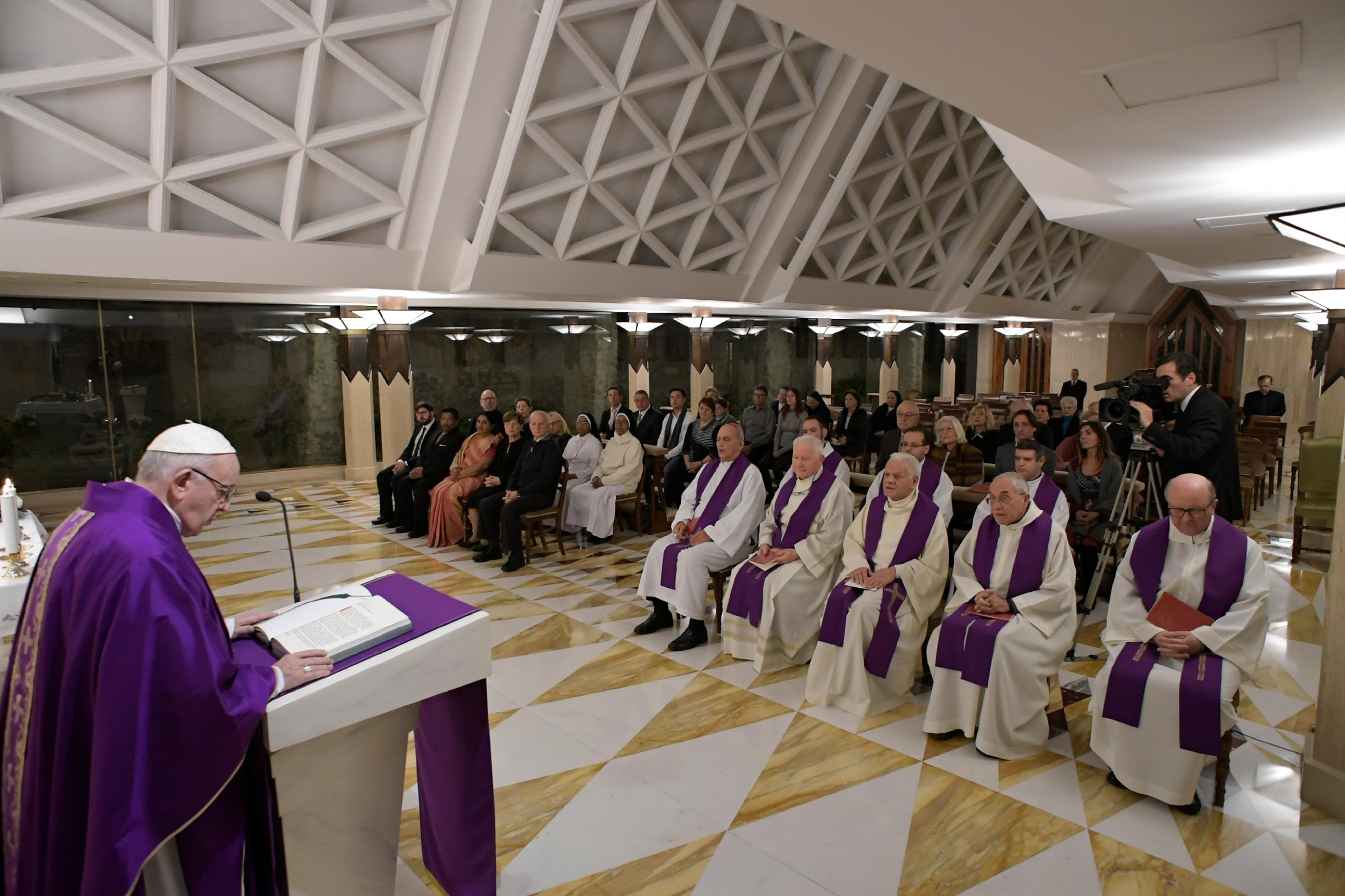 Messe à Sainte-Marthe, 20 décembre 2018 © Vatican Media