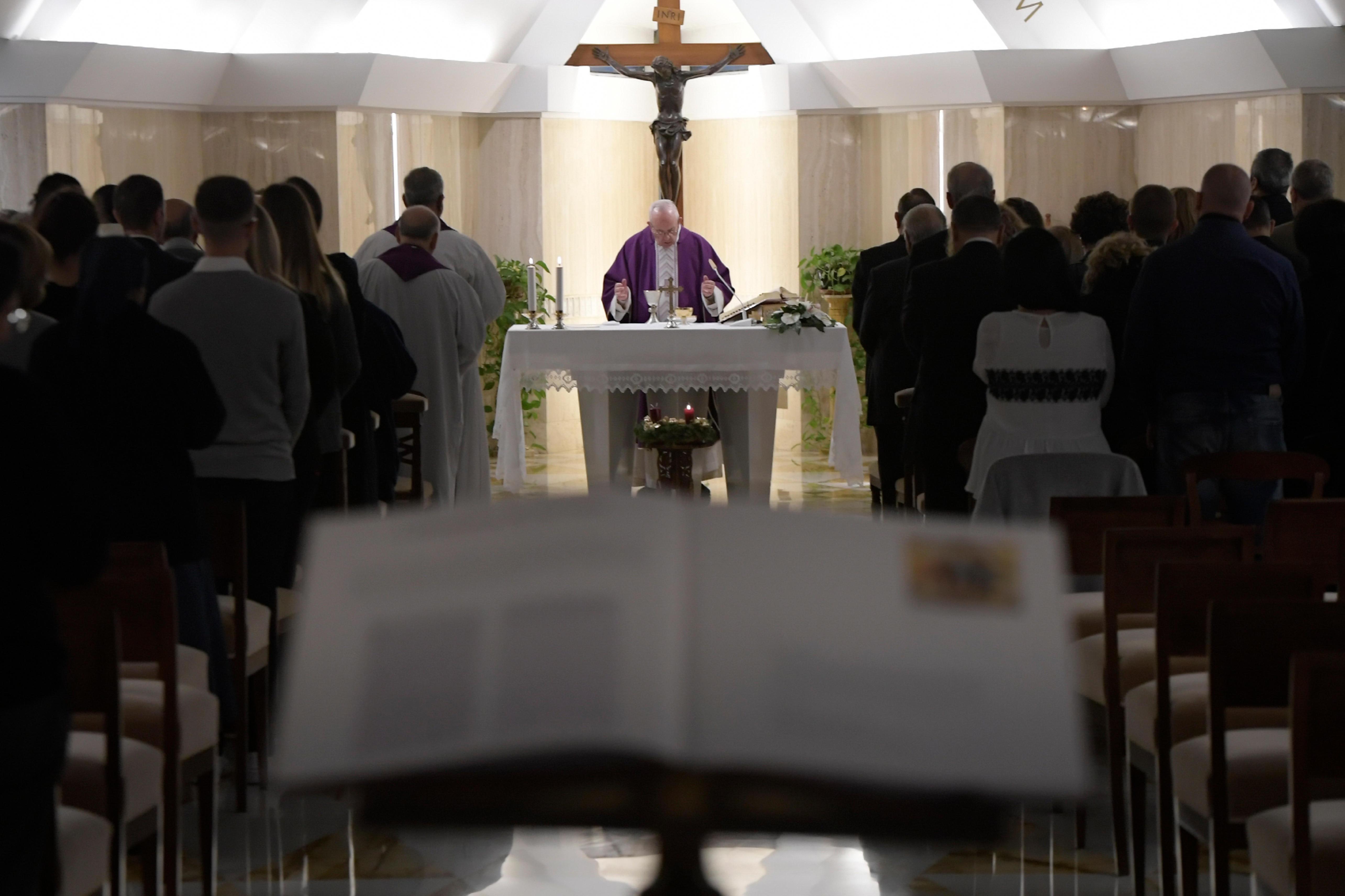Messe du 6 dec 2018 à Sainte Marthe © Vatican Media