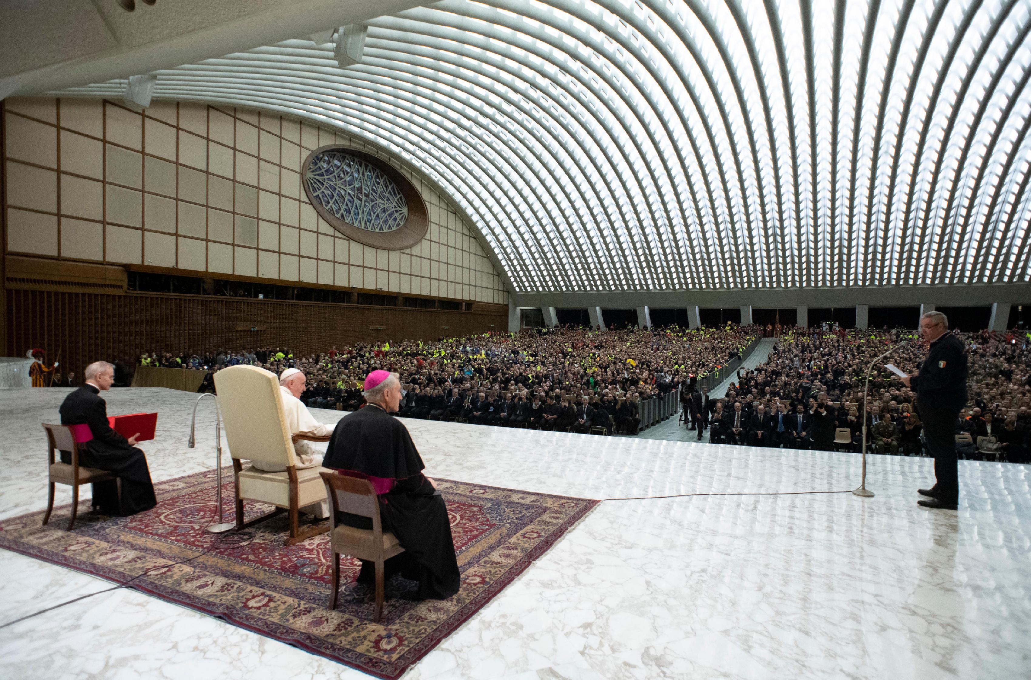 Protection civile italienne © Vatican Media