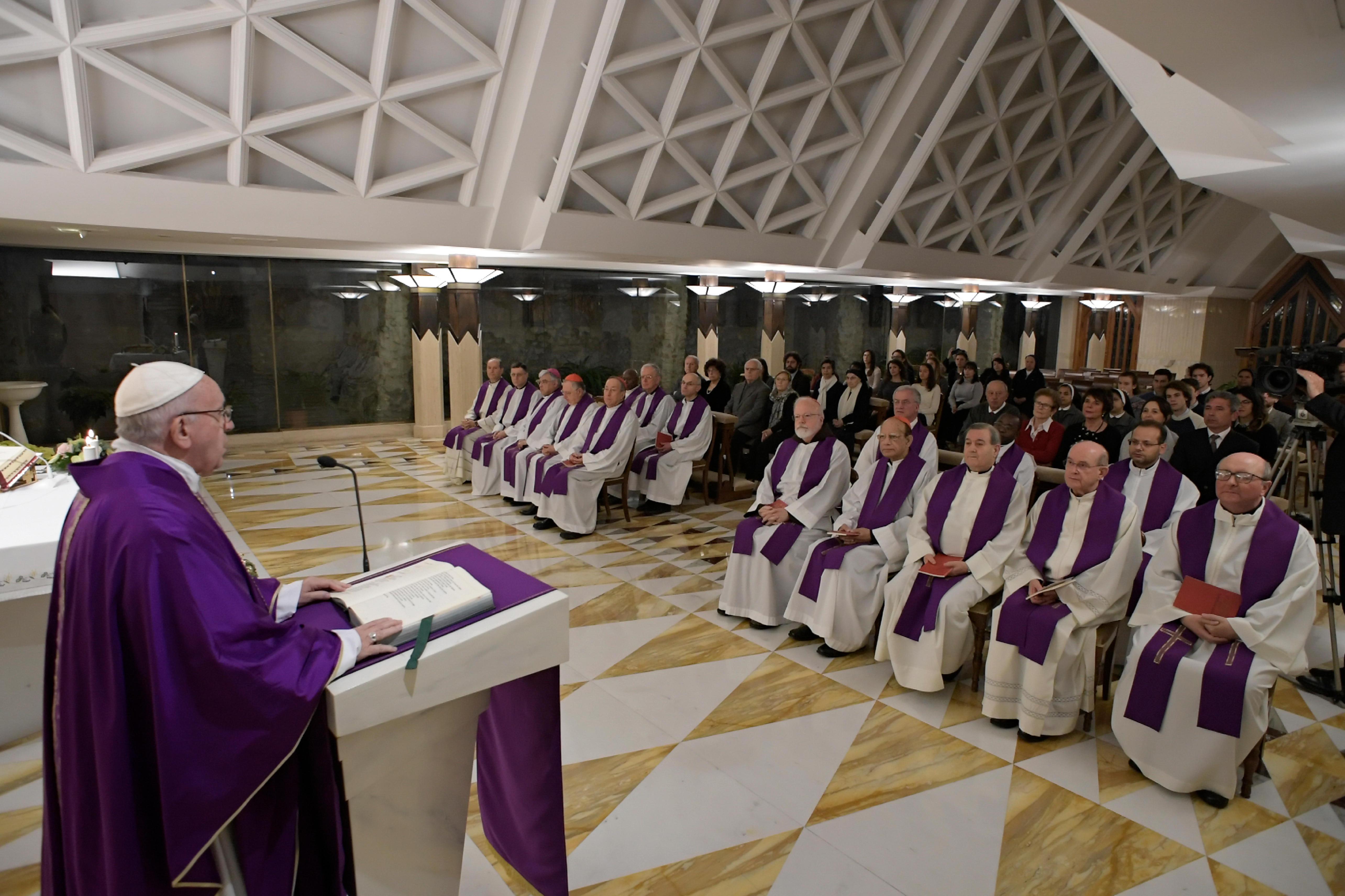 Messe du 11 décembre 2018 à Ste Marthe © Vatican Media