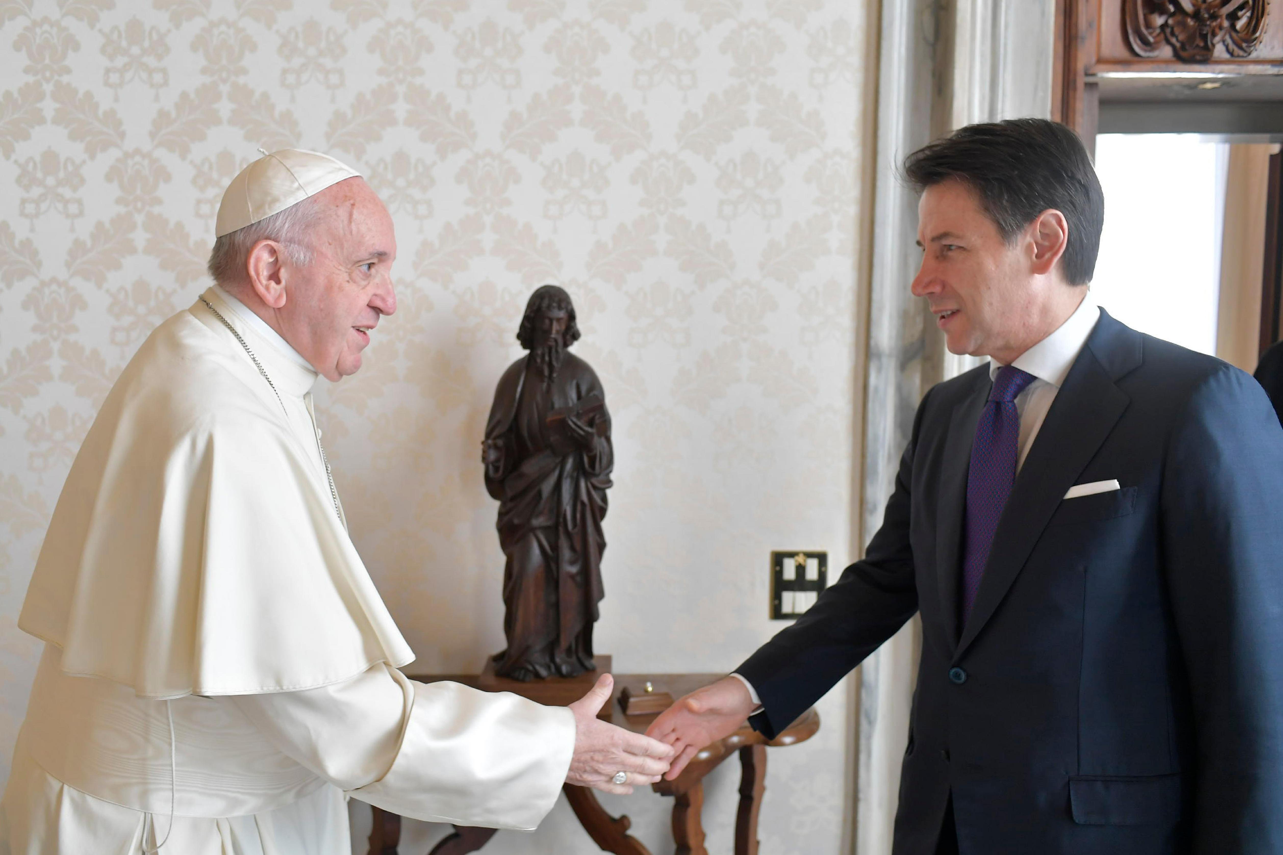 Giuseppe Conte, président du Conseil italien © Vatican Media