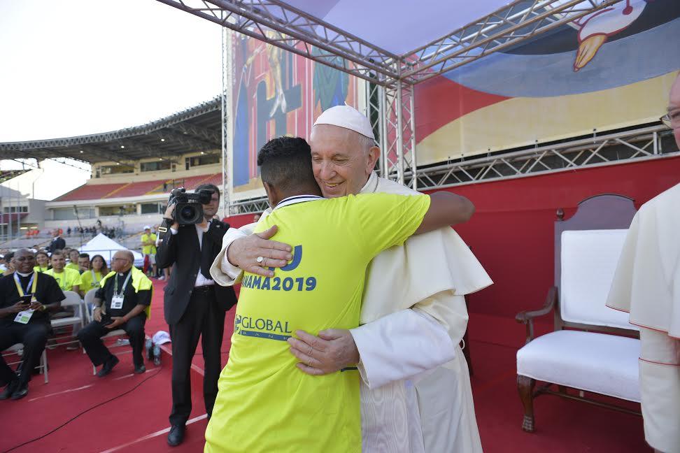 Rencontre avec les volontaires, Panama © Vatican Media