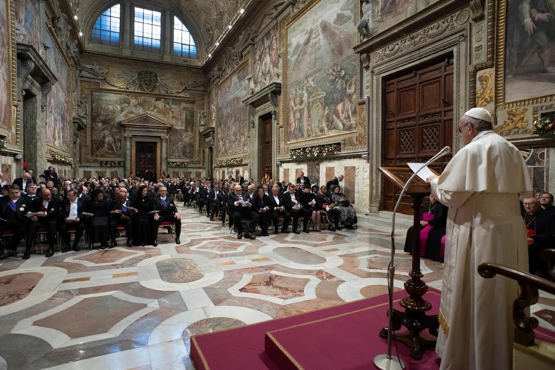 Voeux au Corps diplomatique 7 janvier 2019 © Vatican Media