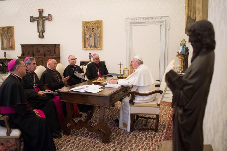 Conseil permanent des évêques du Chili © Vatican Media