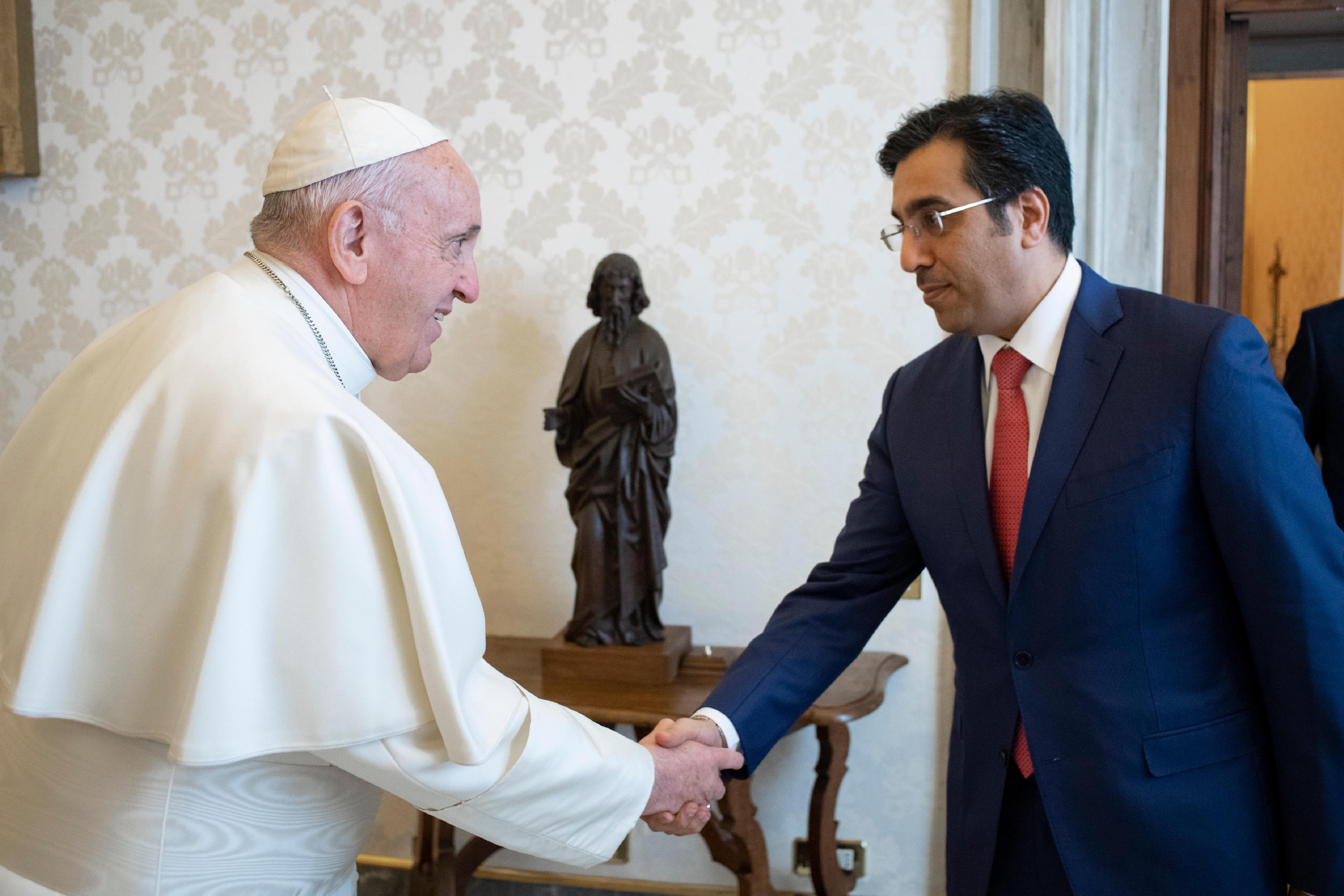 Ali Bin Smaikh Al Marri, président du NHRC, Qatar © Vatican Media