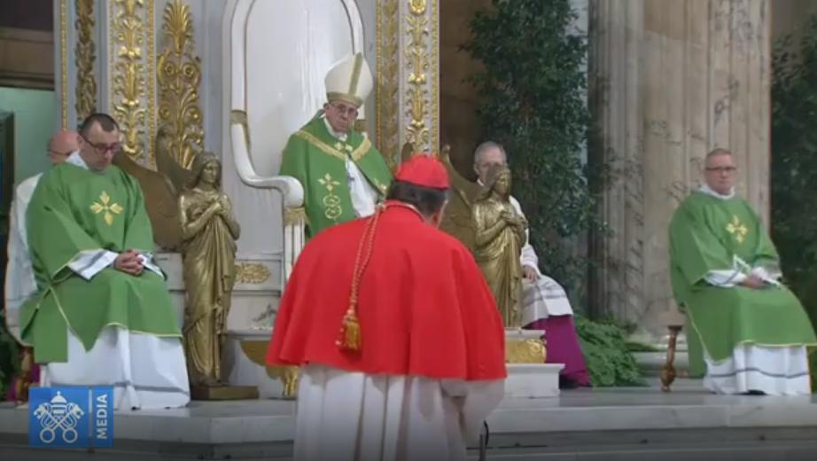 Cardinal Koch, vêpres pour la Semaine de prière pour l'unité des chrétiens, capture Vatican Media