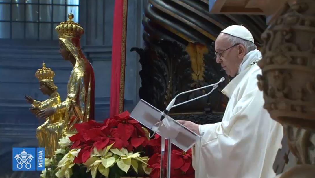 Messe du 1er janvier 2019, capture Vatican Media