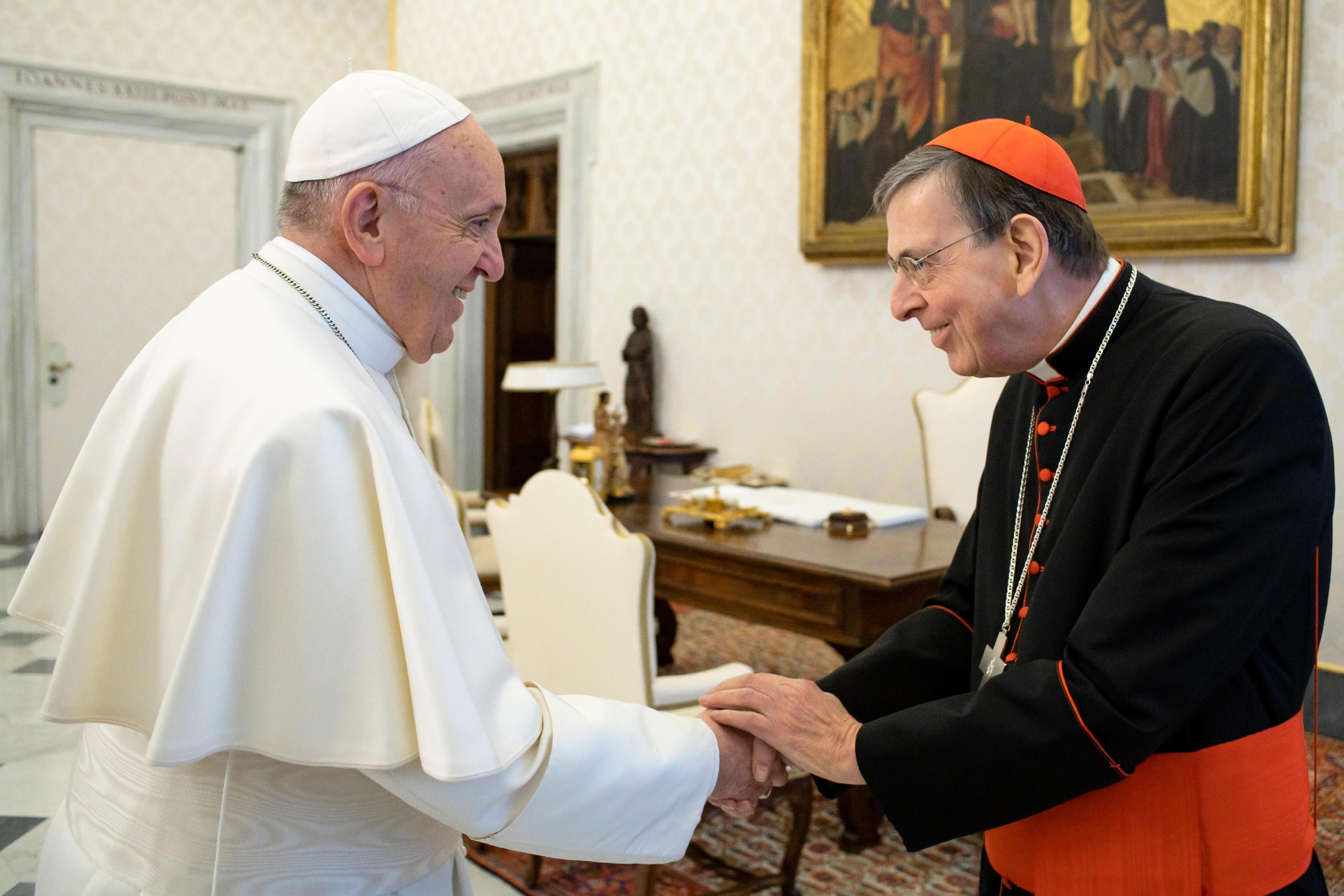 Le card. Koch avec la Délégation oecuménique de Finlande © Vatican Media