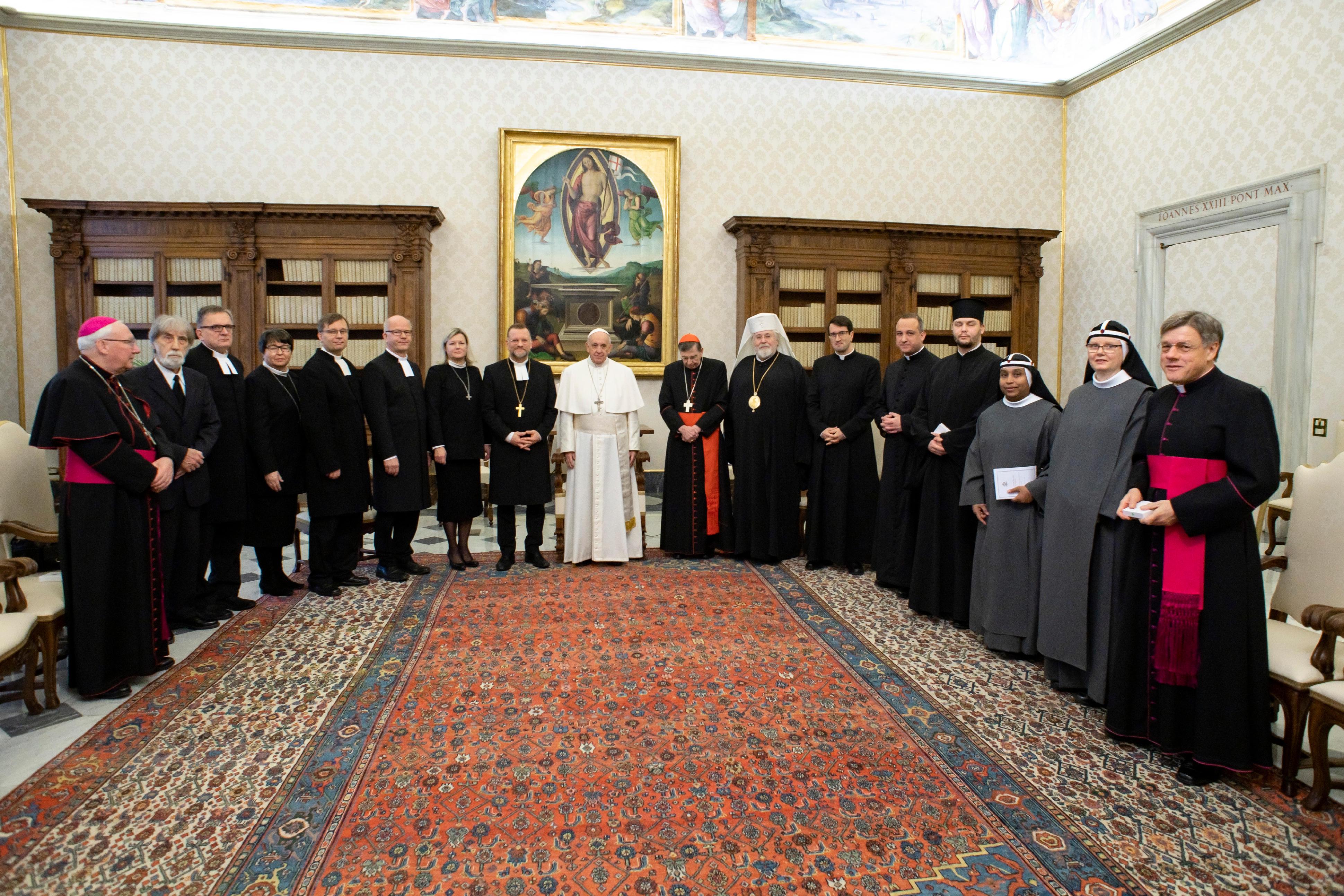 Délégation oecuménique de Finlande © Vatican Media