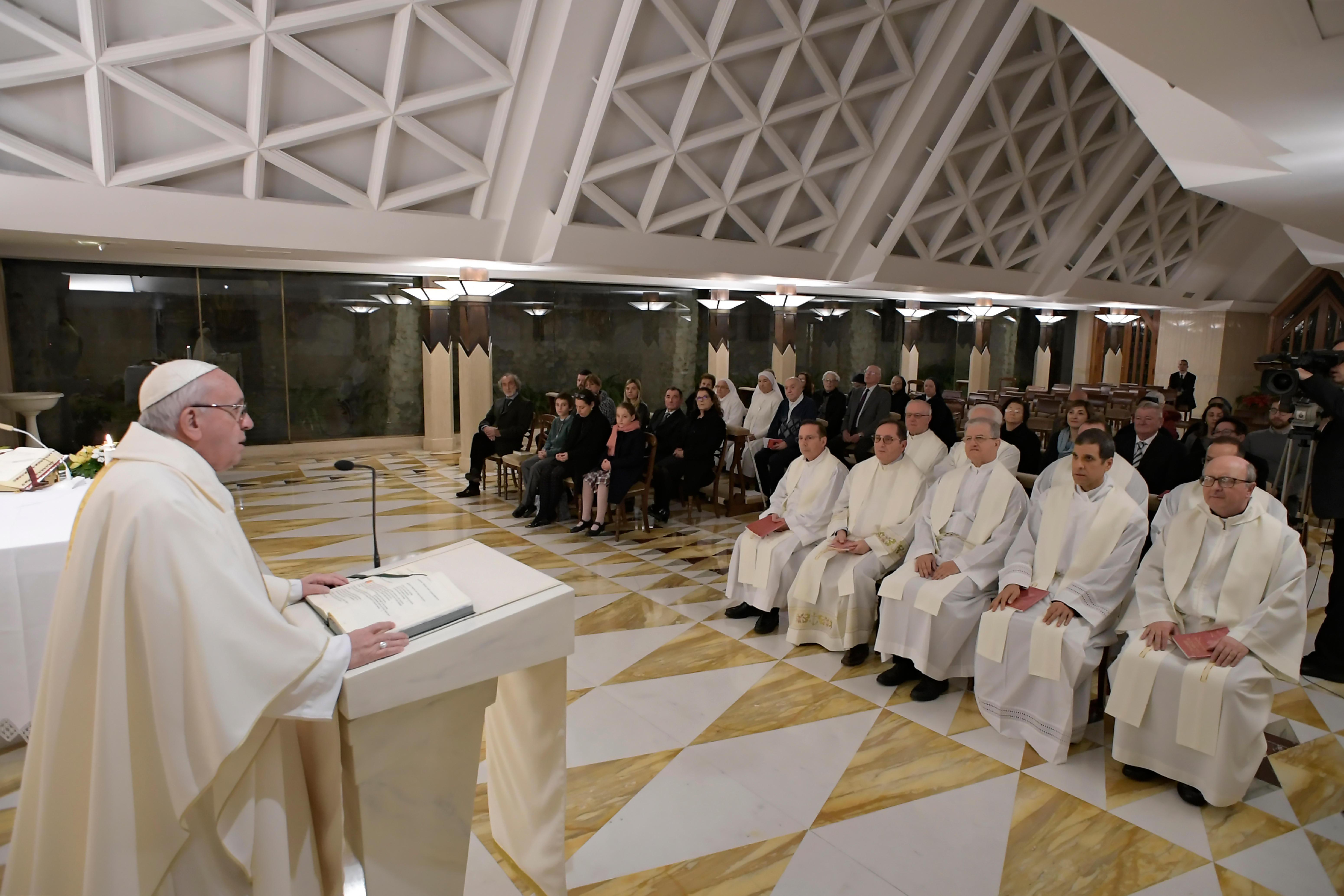 Sainte Marthe, 10 janvier 2019 © Vatican Media