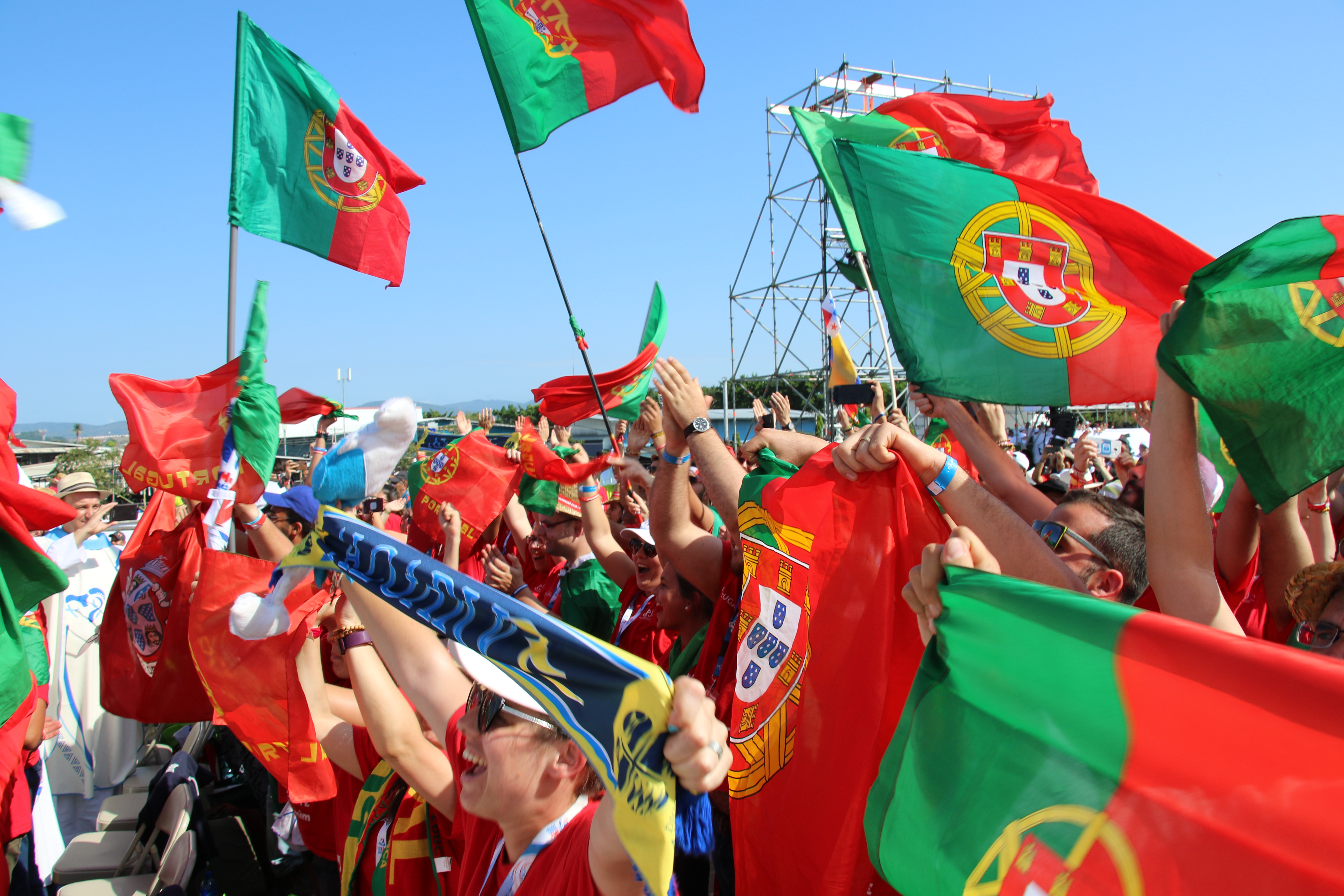 Liesse des jeunes du Portugal, Panama © Santuário de Fátima