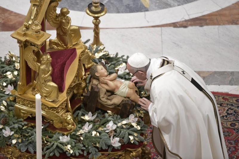 Enfant Jésus, Messe de l'Epiphanie, 6 janvier 2019 © Vatican Media