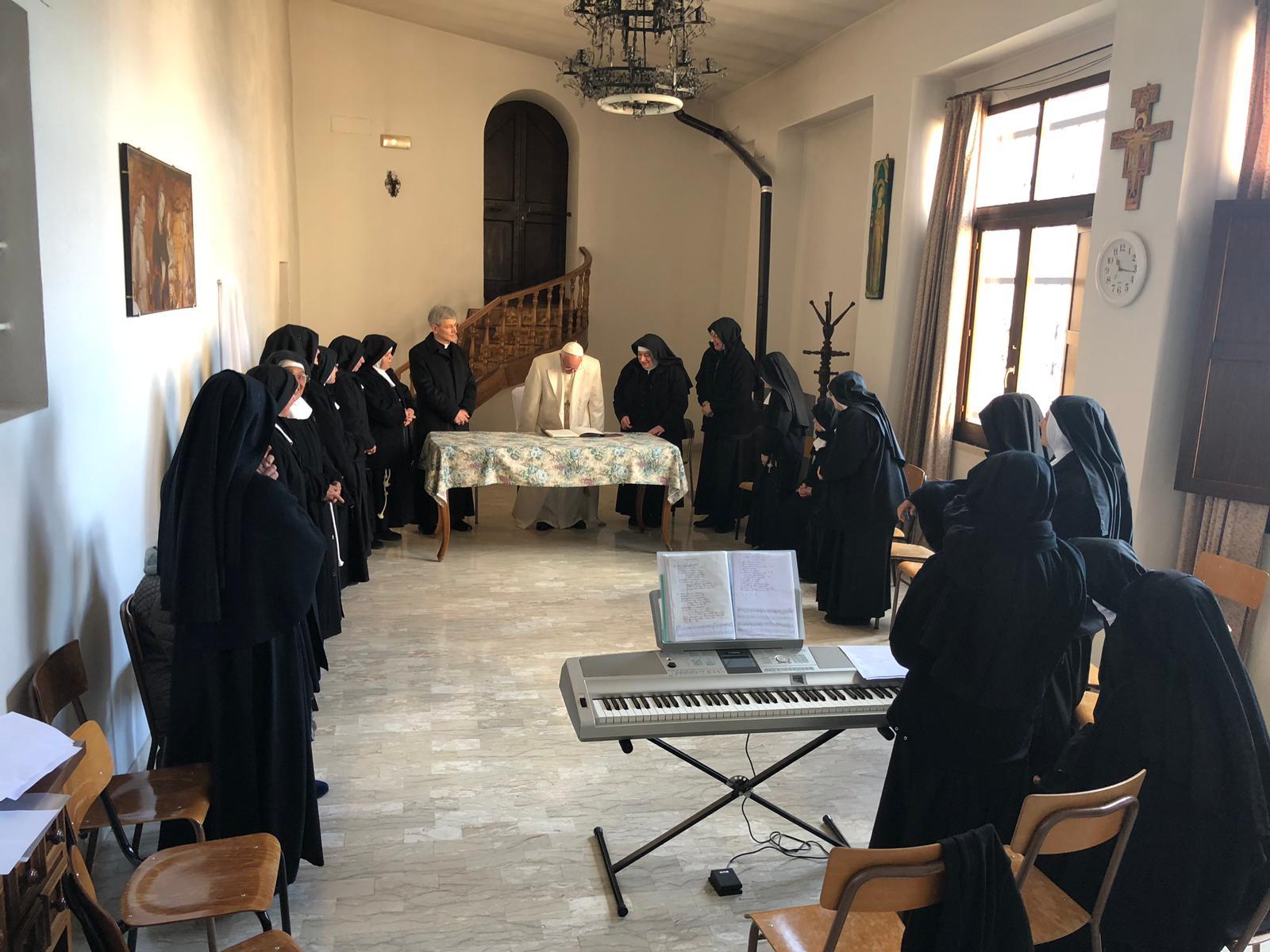 Monastère de clarisses de Vallegloria © Bureau de presse du Saint-Siège