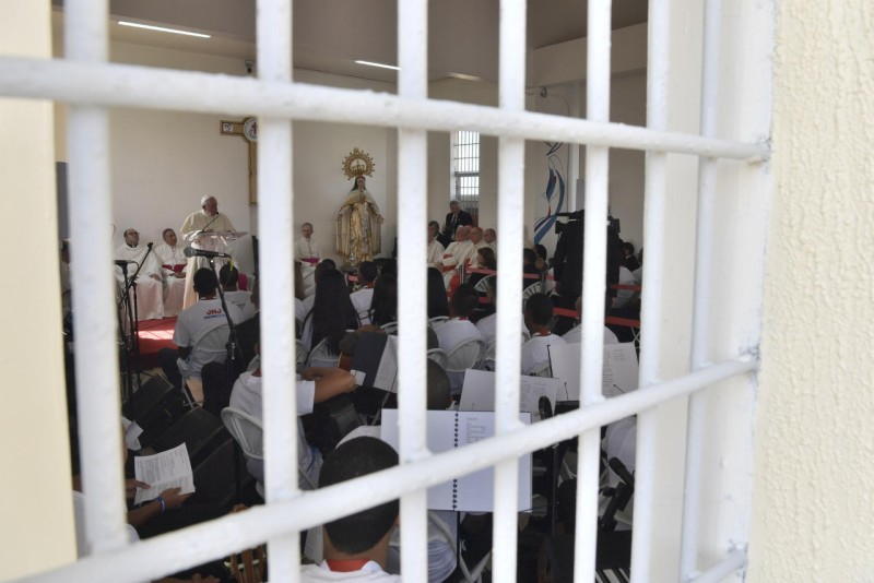 Jeunes prisonniers, Las Garzas de Pacora, Panama© Vatican Media